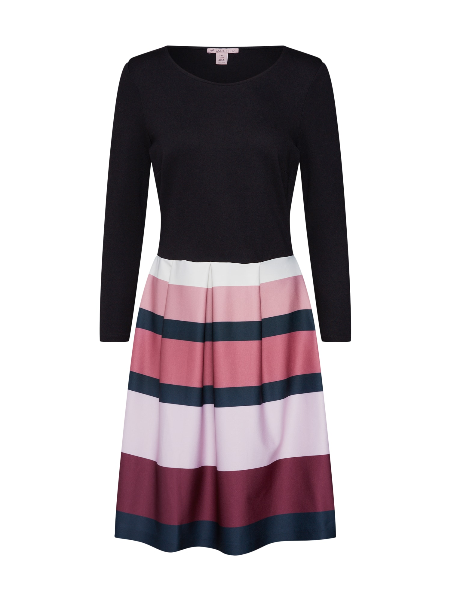 Anna Field Cocktailjurk 'Tulip dress colour stripe 3/4 sleeve' lila / zwart
