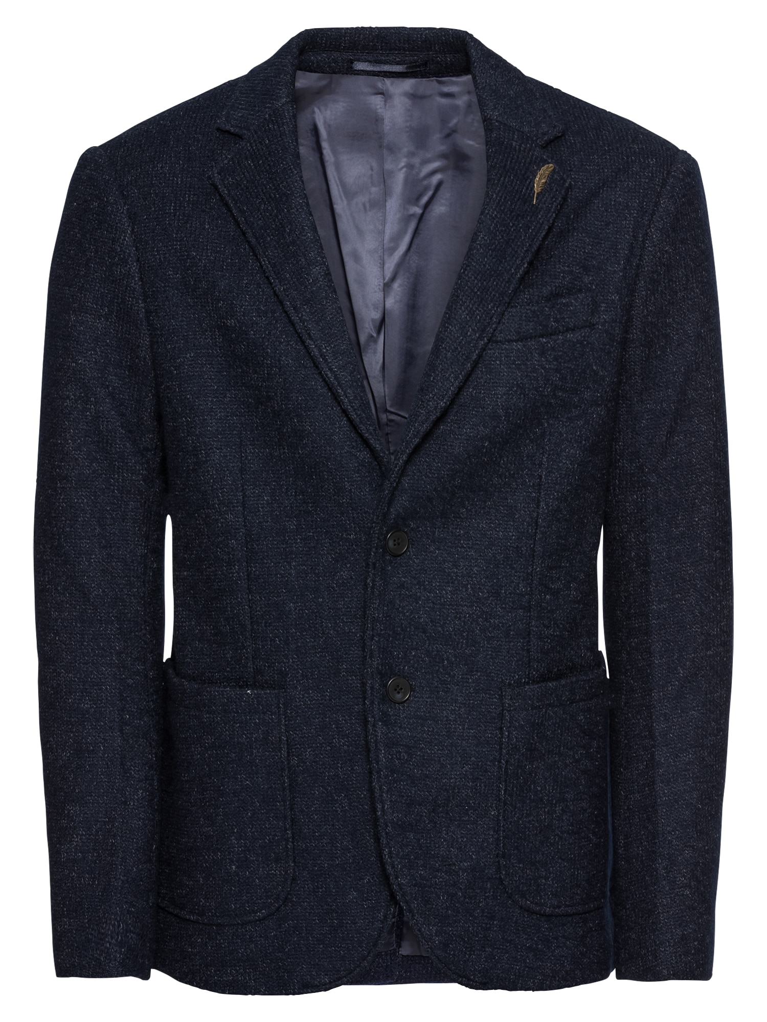 Sako Heavy Tweed Blazer with Pin tmavě modrá Pier One
