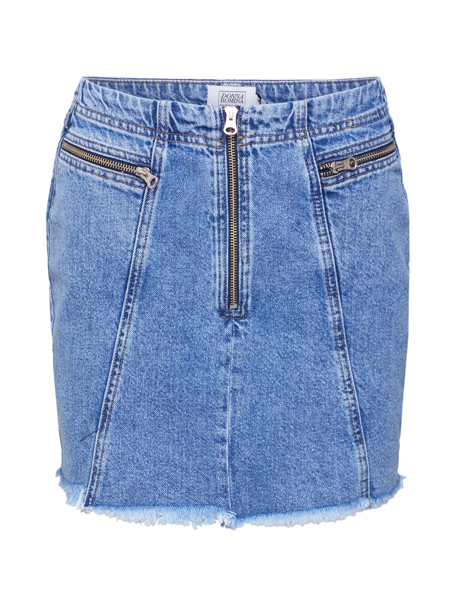 Sukně DonnaRomaina x Denim Skirt modrá džínovina NA-KD