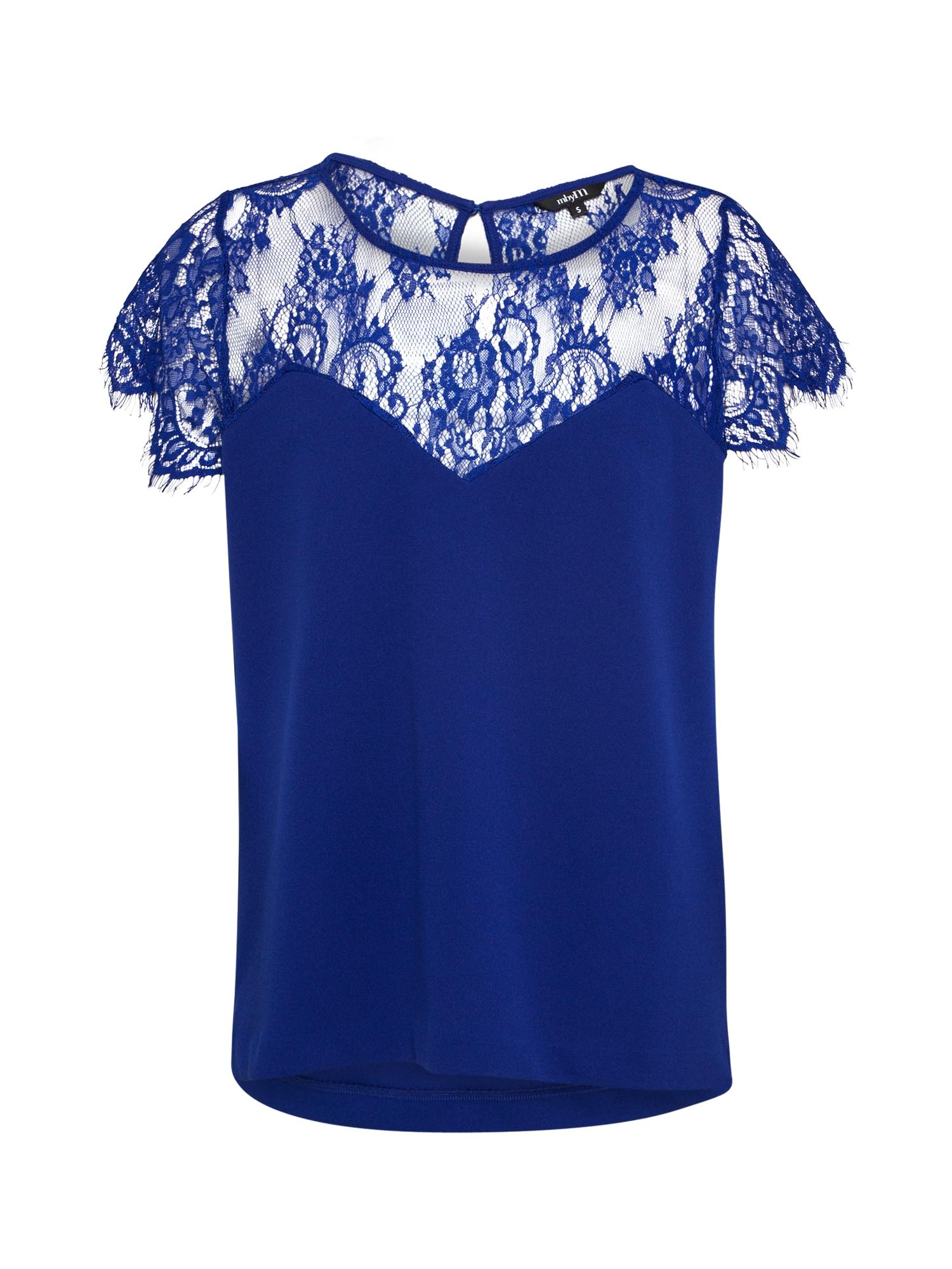 Mbym, Dames Shirt 'Kiko Mysha', royal blue/koningsblauw