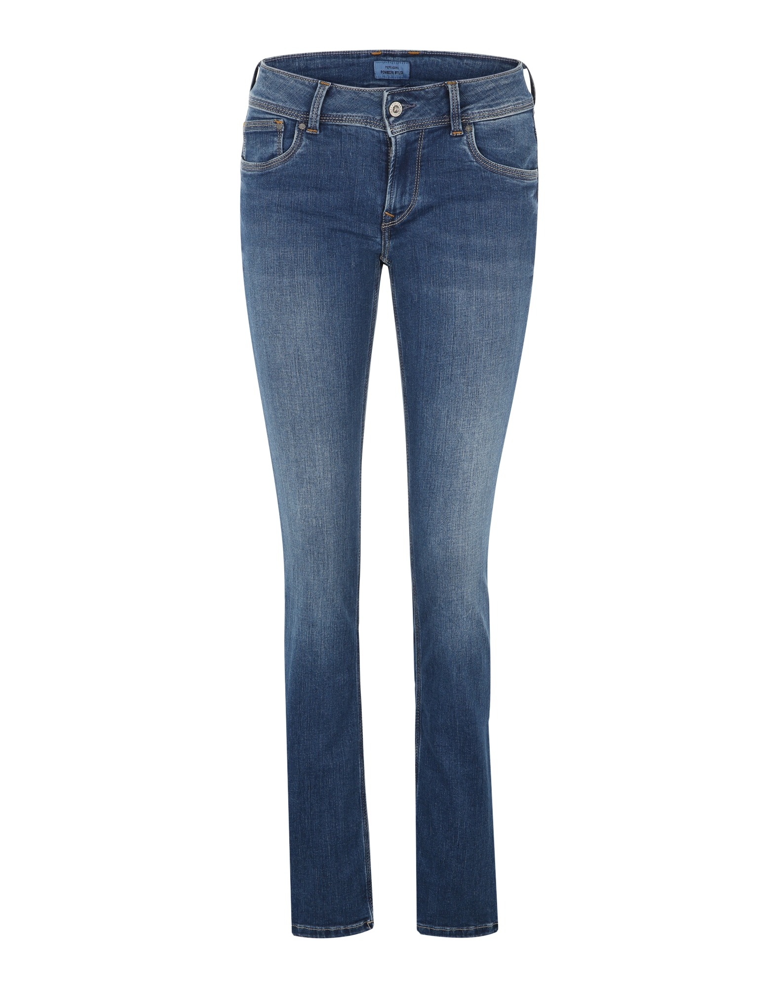 Pepe Jeans Dames Jeans Saturn blauw