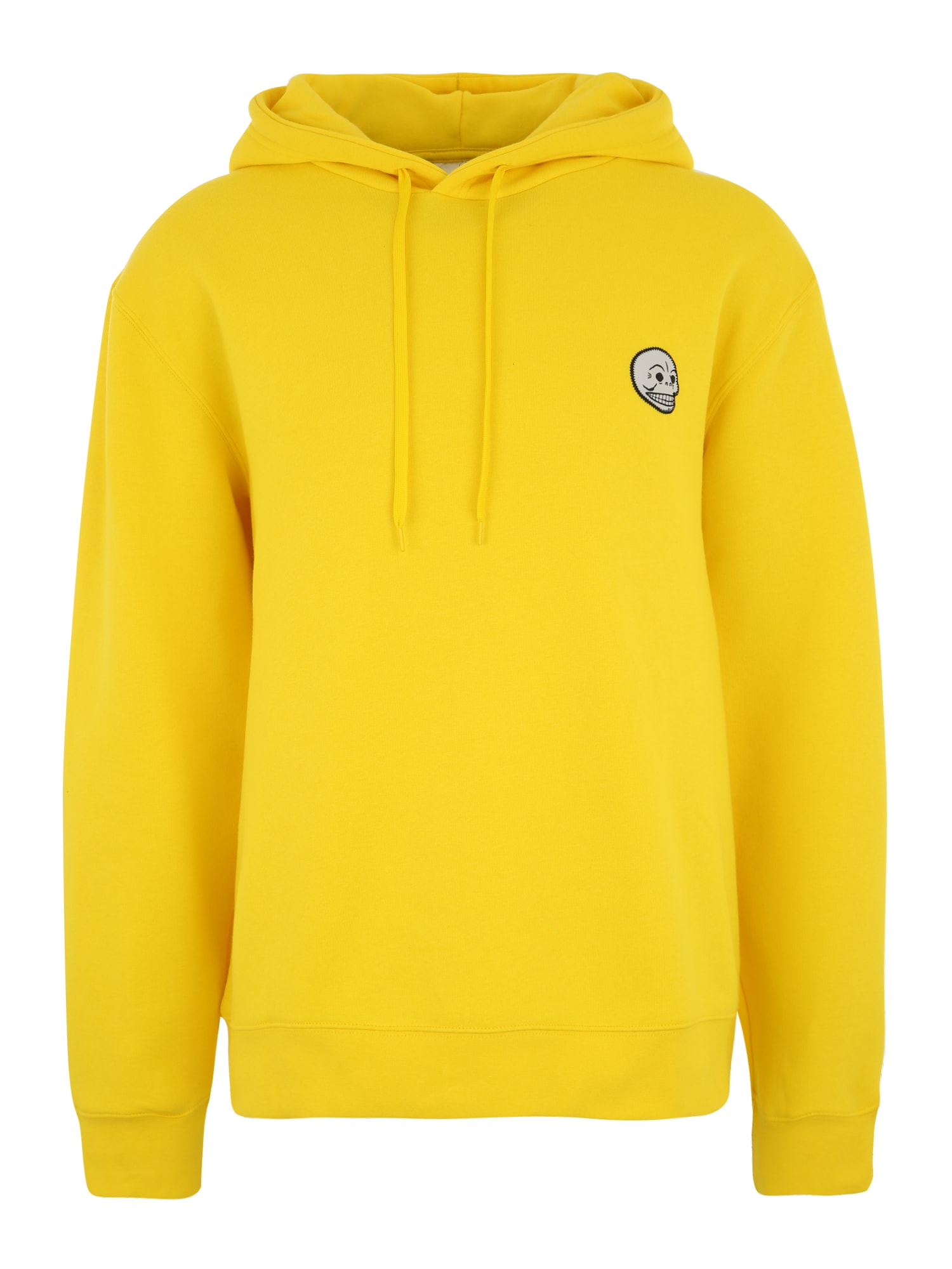 CHEAP MONDAY Heren Sweatshirt Skull badge geel