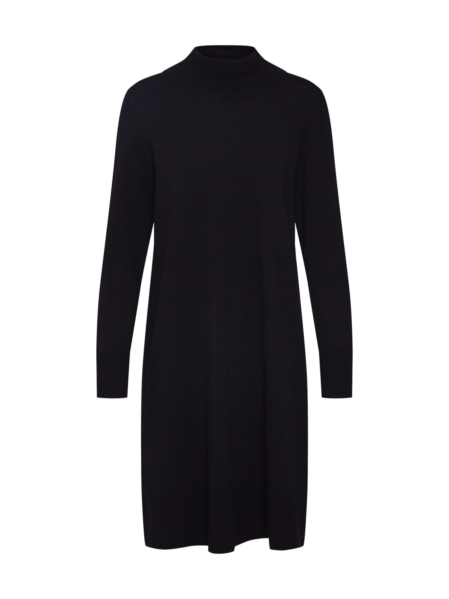 Úpletové šaty turtleneck dres Dresses flat knitted černá ESPRIT