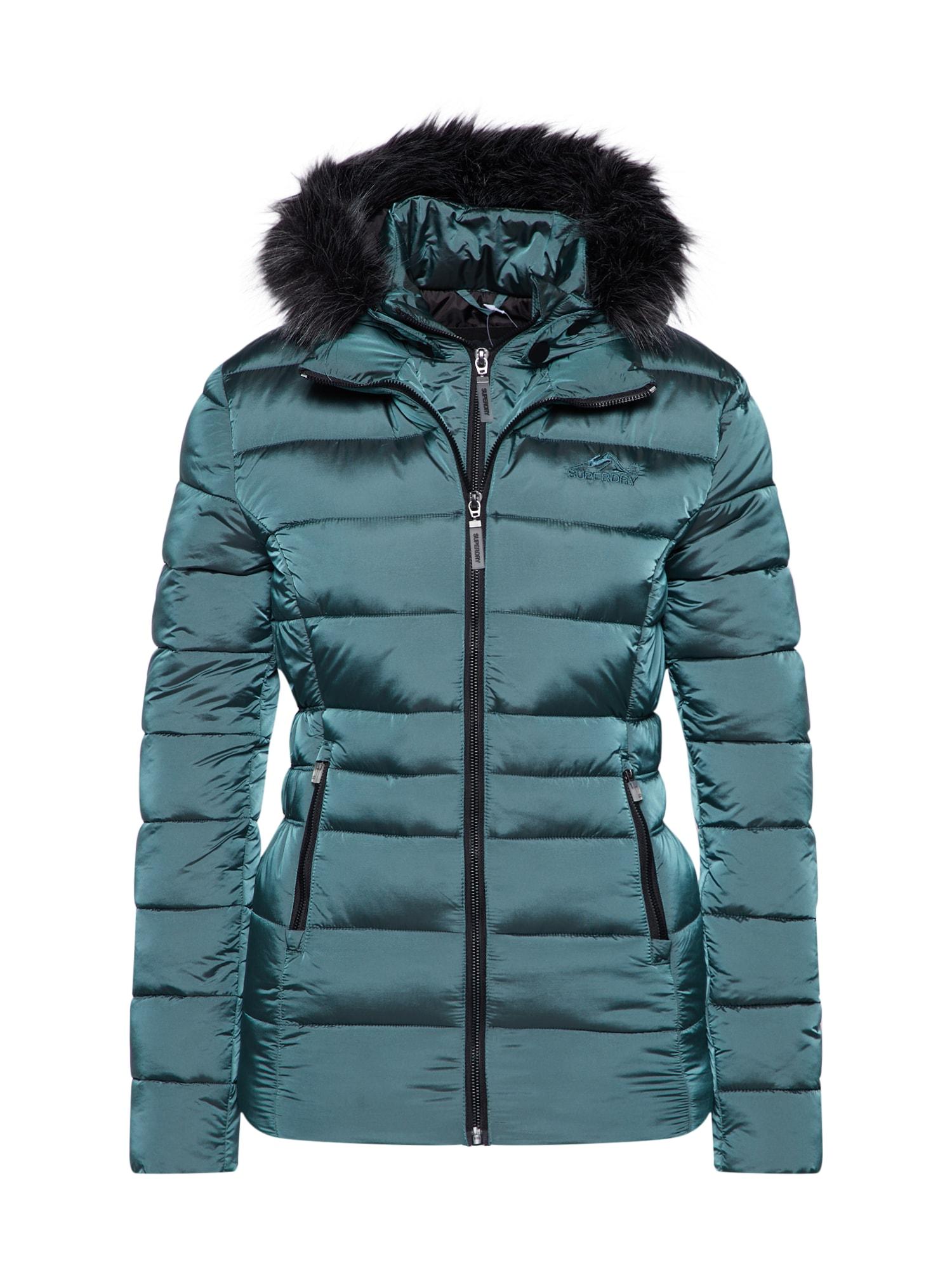 Zimní bunda nefritová Superdry