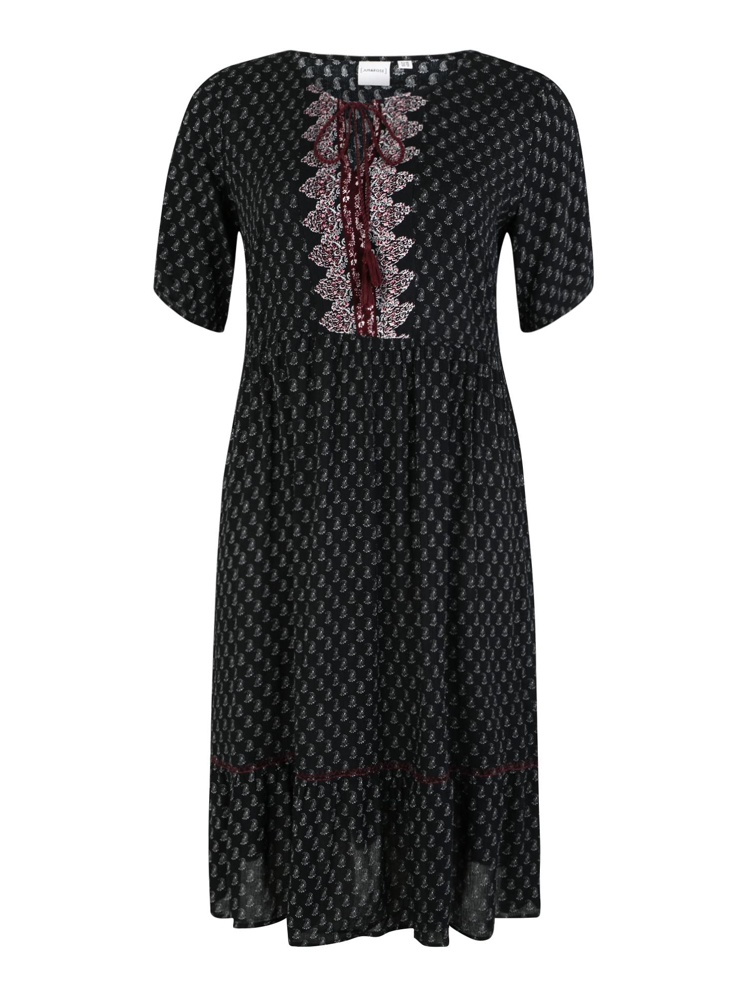 Letní šaty AVIAYA červená černá Junarose