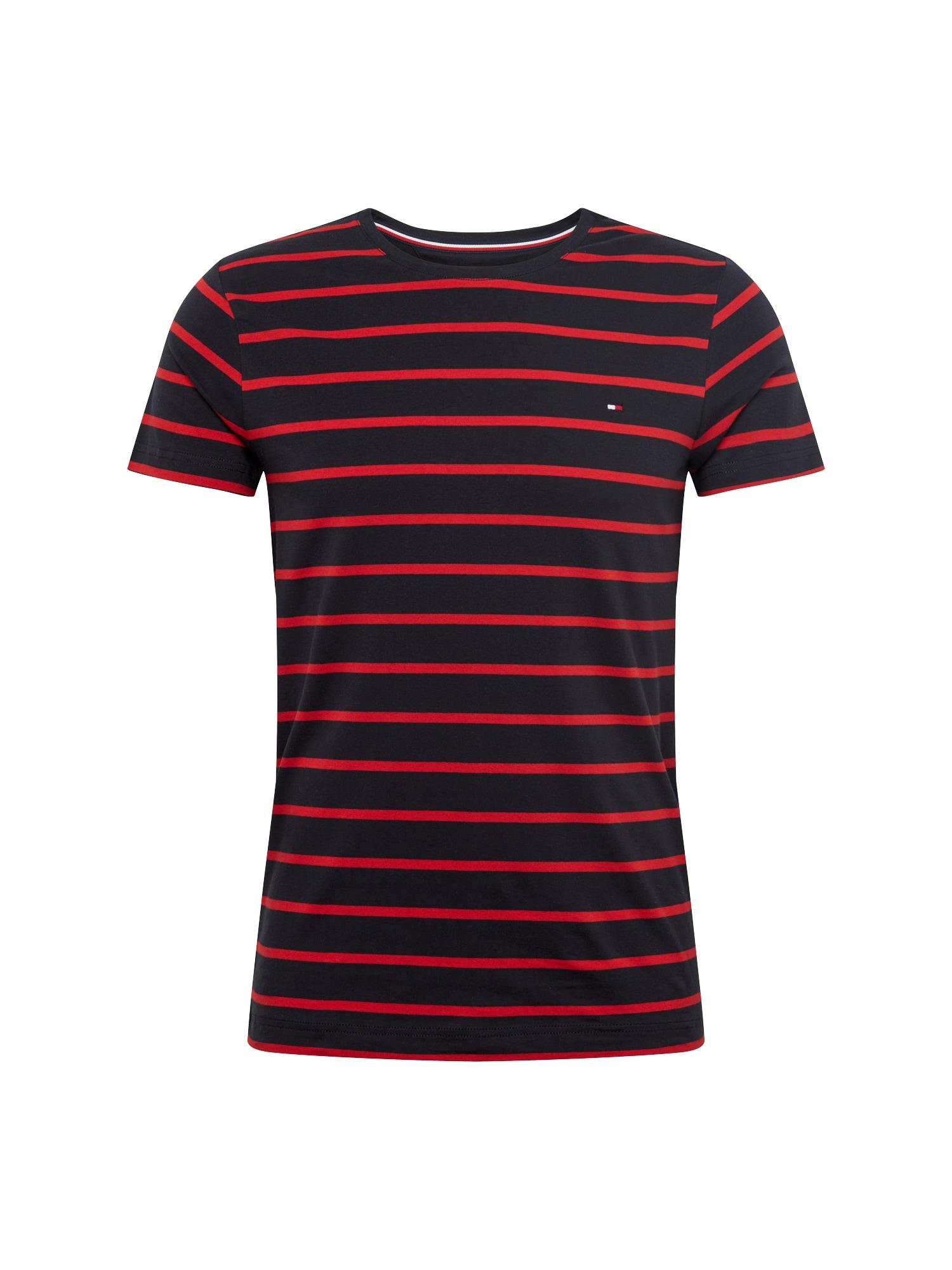 TOMMY HILFIGER Tričko  tmavě modrá / červená