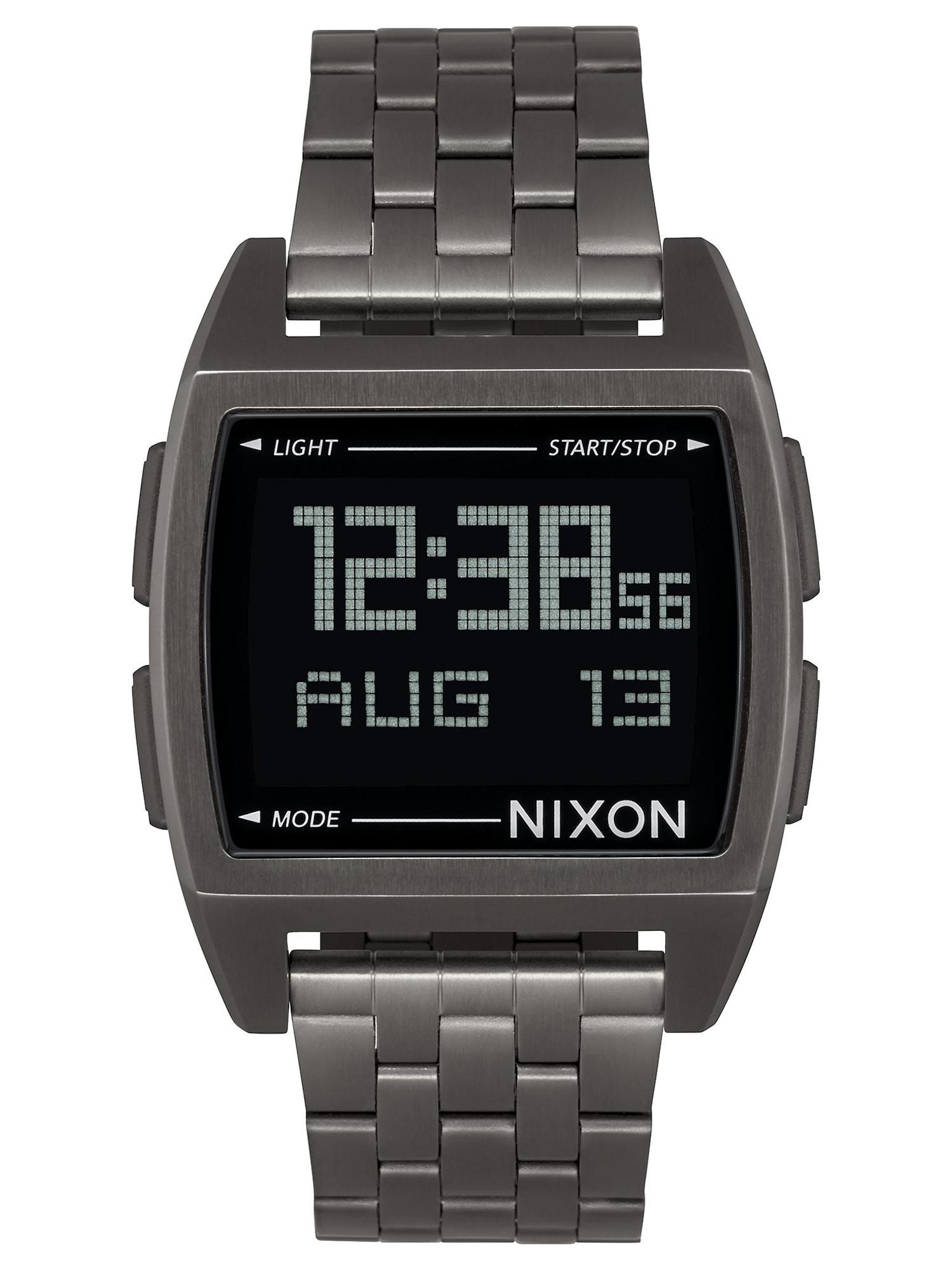 Digitální hodinky Base stříbrně šedá Nixon