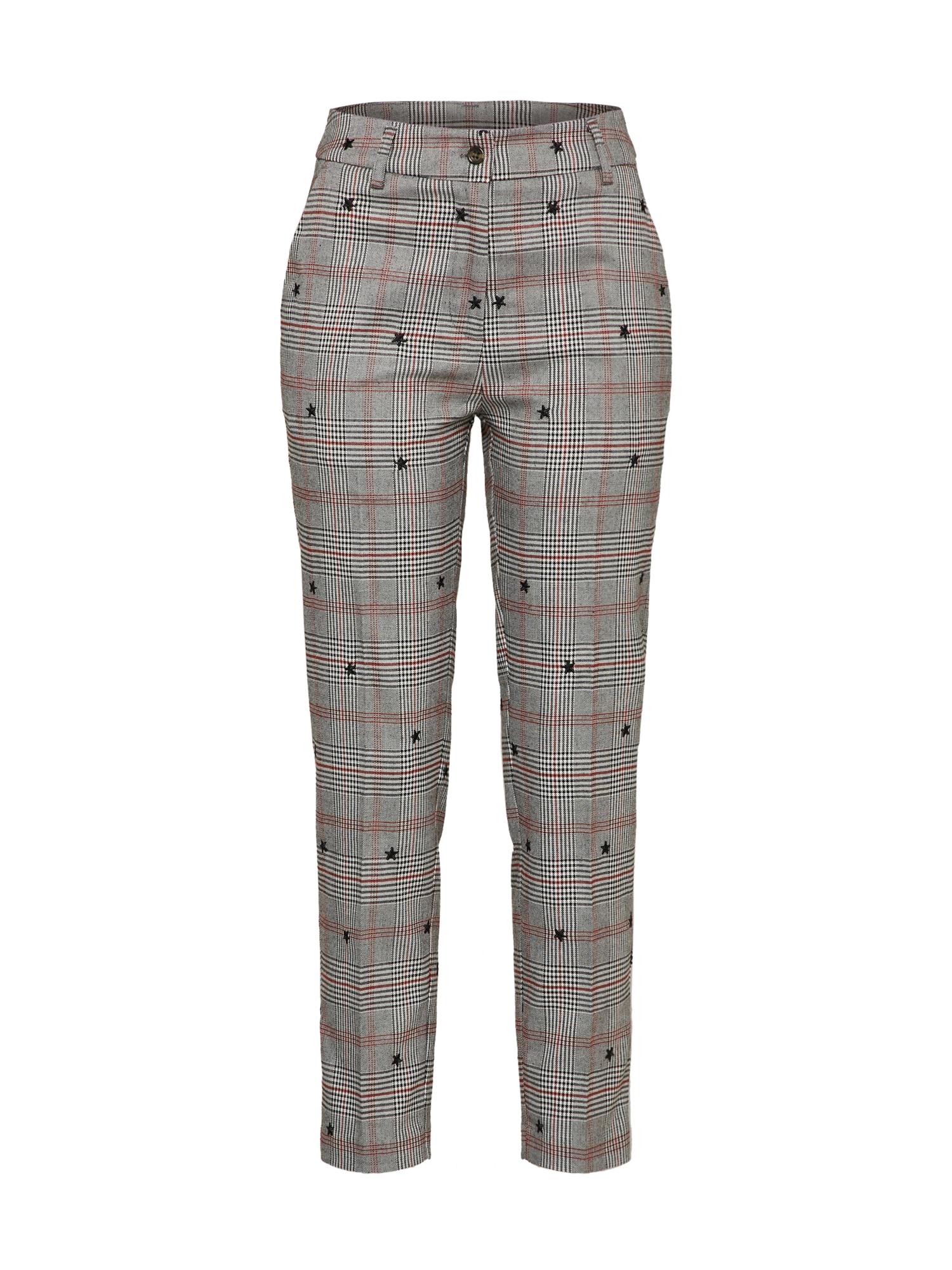 Kalhoty se sklady v pase TR STAR STRUCK šedá CATWALK JUNKIE