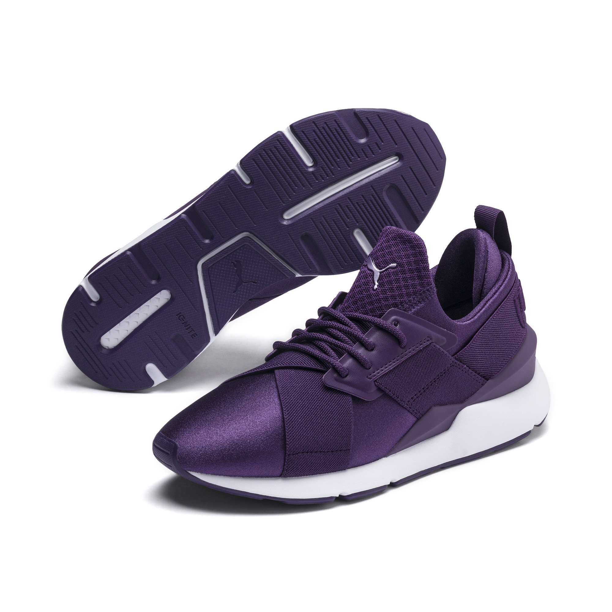 PUMA, Dames Sneakers laag 'Muse Satin Ep Wn's', donkerlila