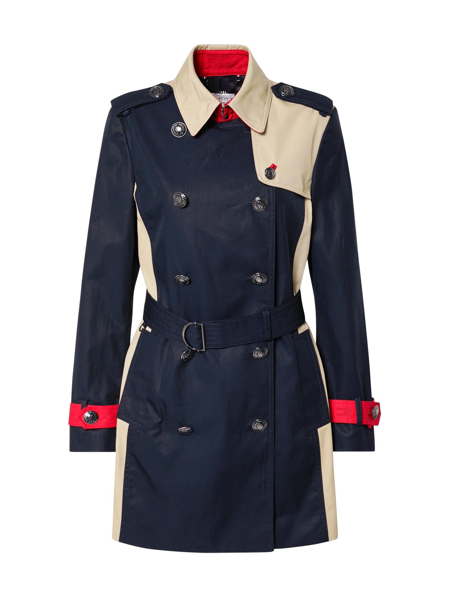 TOMMY HILFIGER Přechodná bunda  bílá / tmavě modrá / červená
