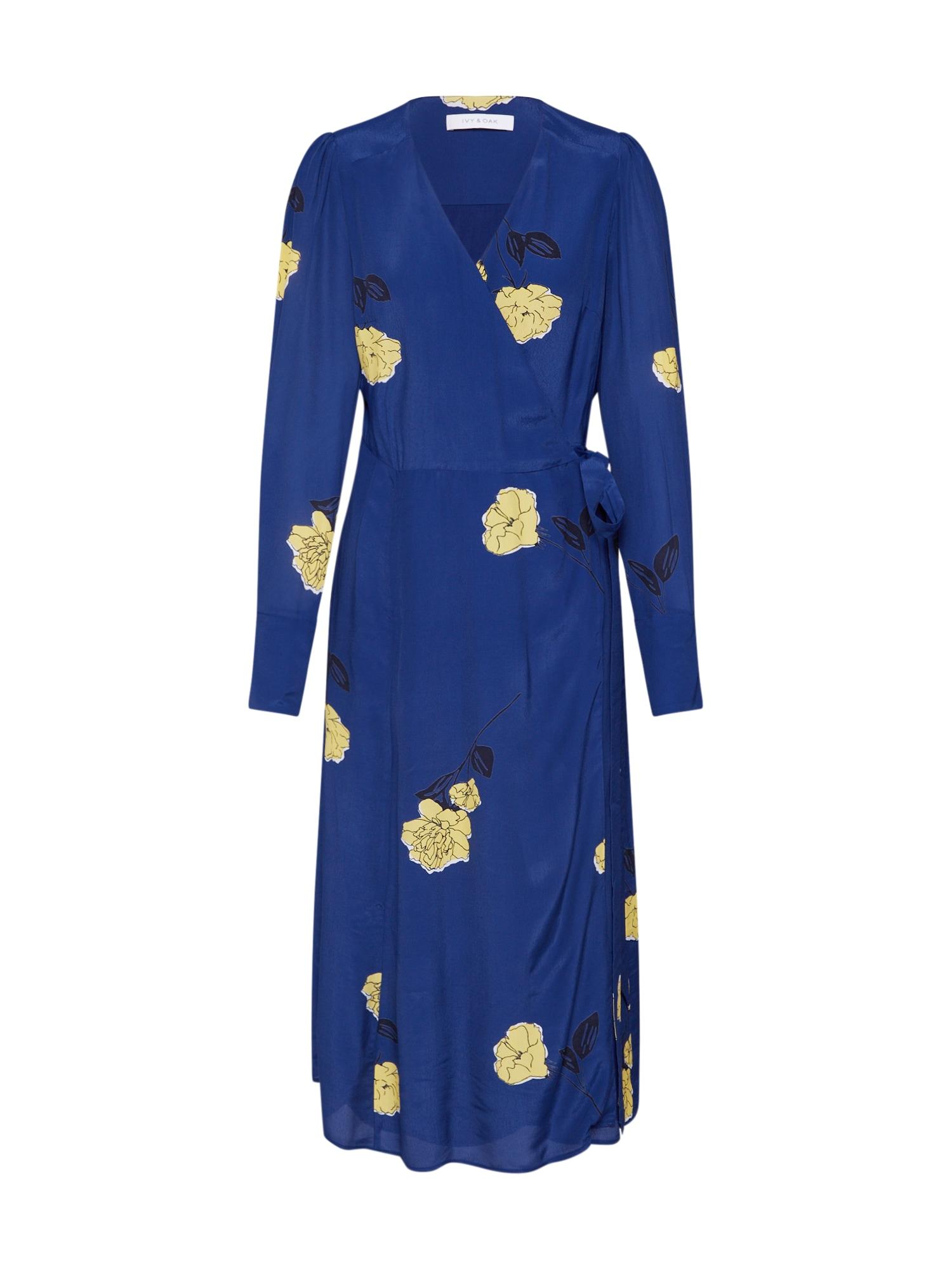IVY & OAK Šaty  tmavě modrá / žlutá / černá