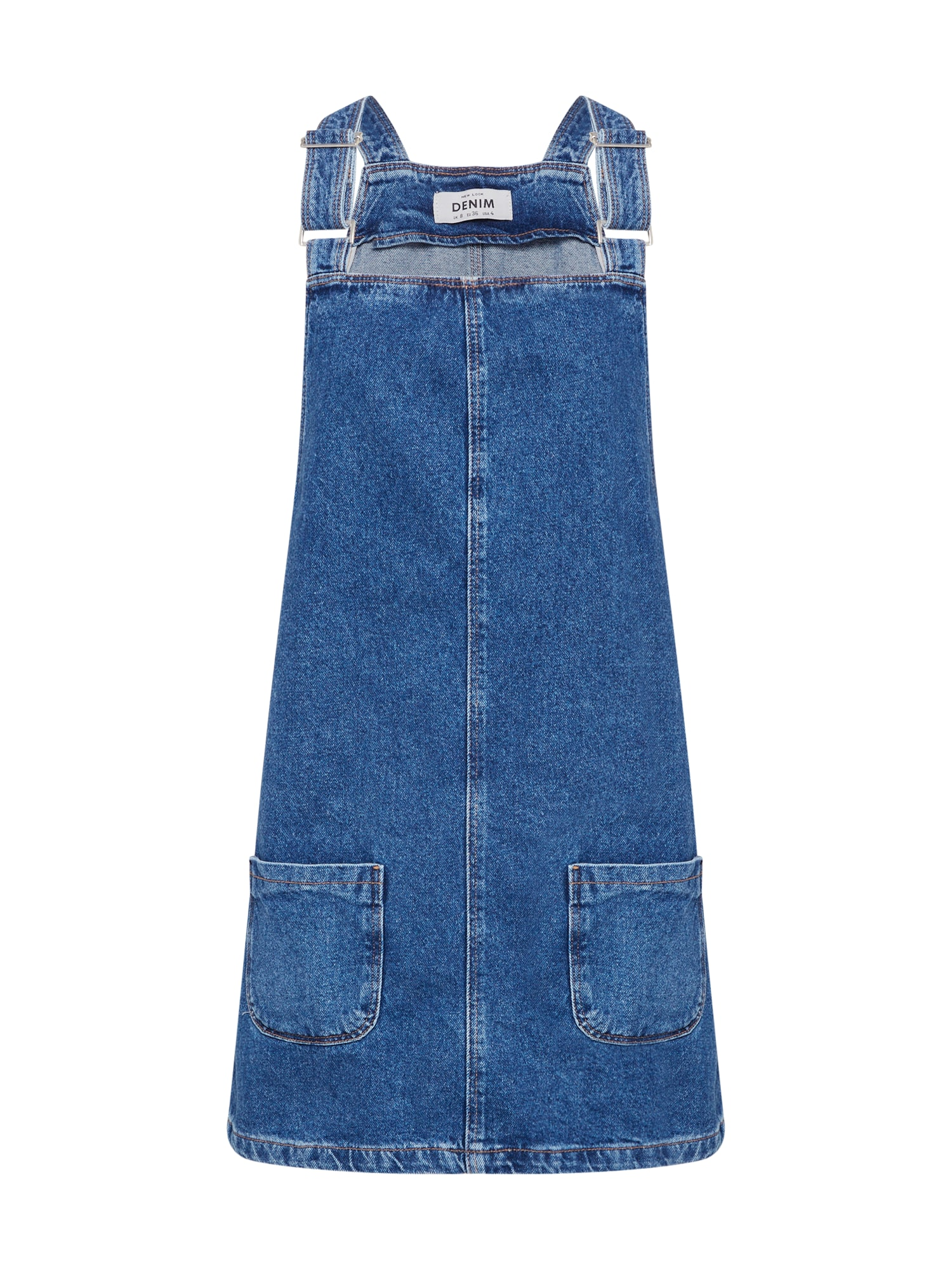 Šaty CHARLOTTE BUCKLE PINNY modrá džínovina NEW LOOK