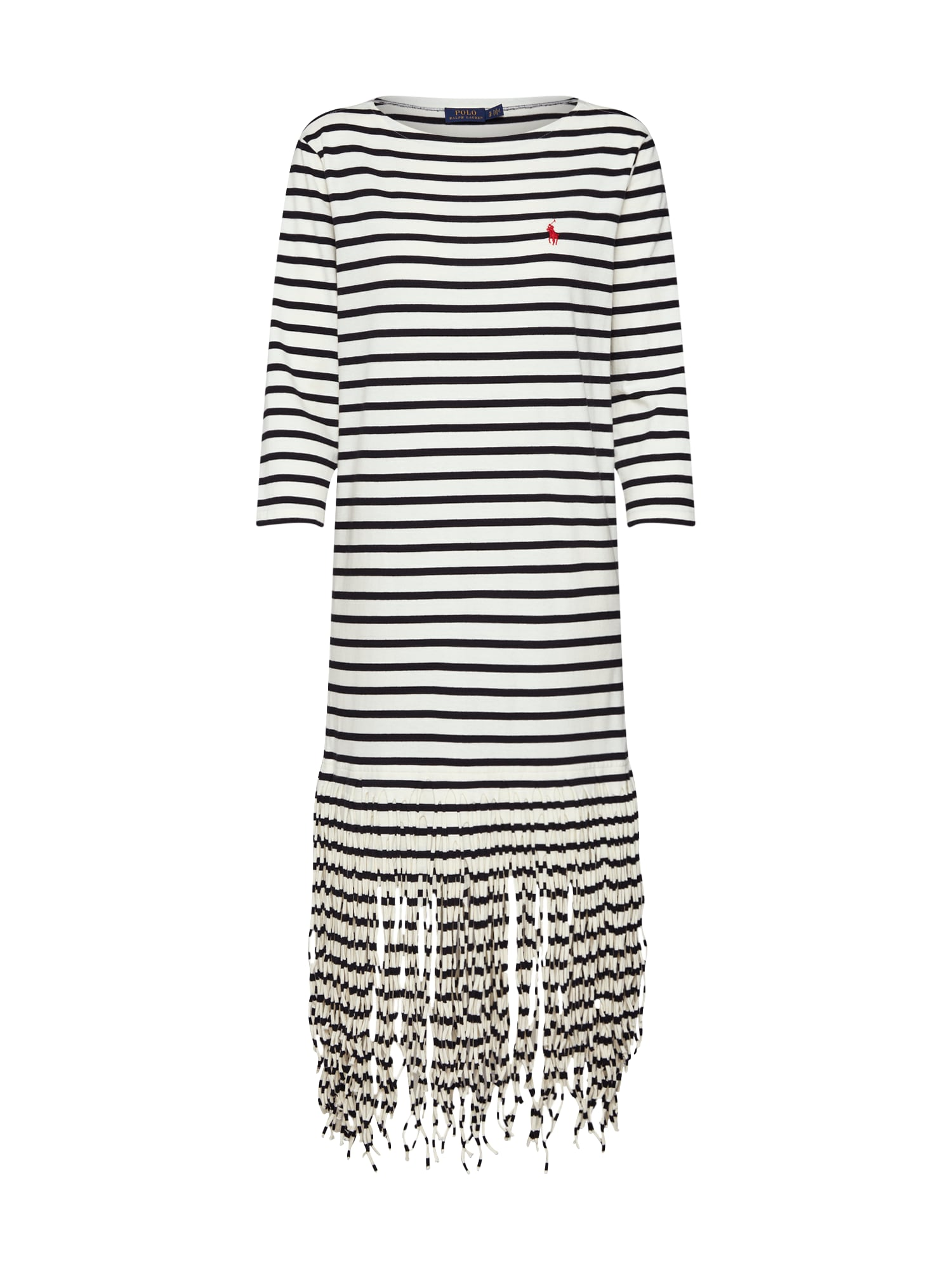 Letní šaty FRINGE DRESS-34 SLEEVE-CASUAL DRESS bílá POLO RALPH LAUREN