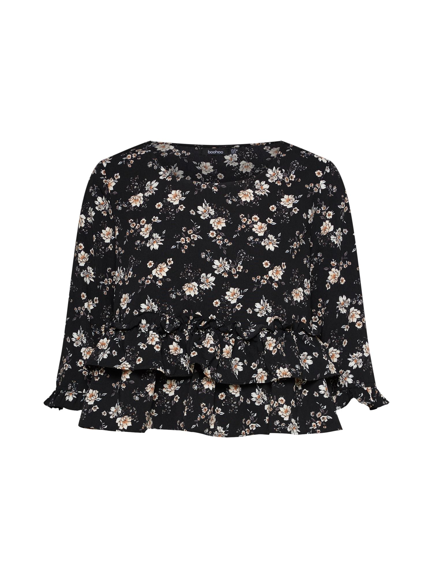 Tričko černá Boohoo