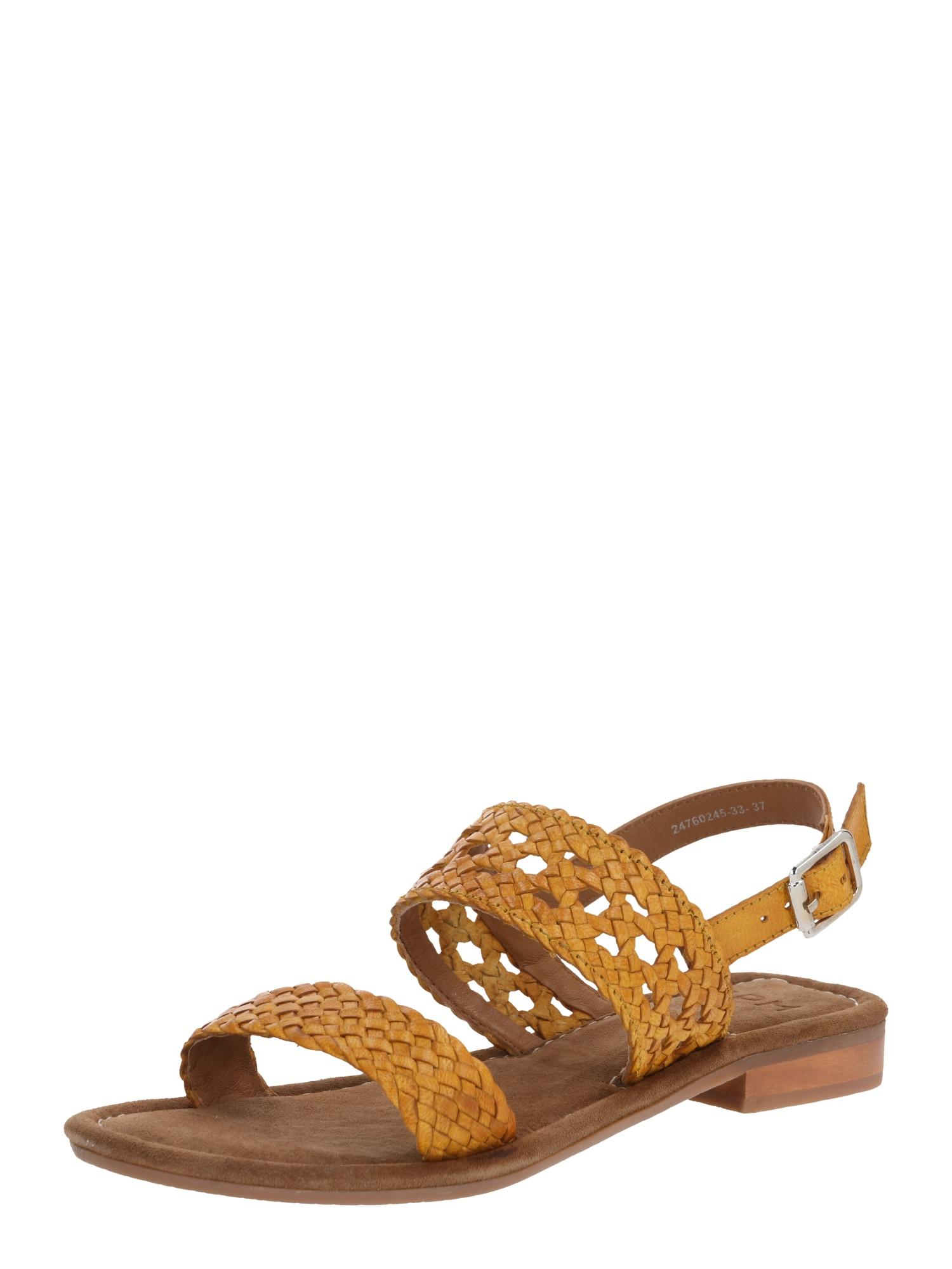 SPM Páskové sandály 'Sandy'  žlutá