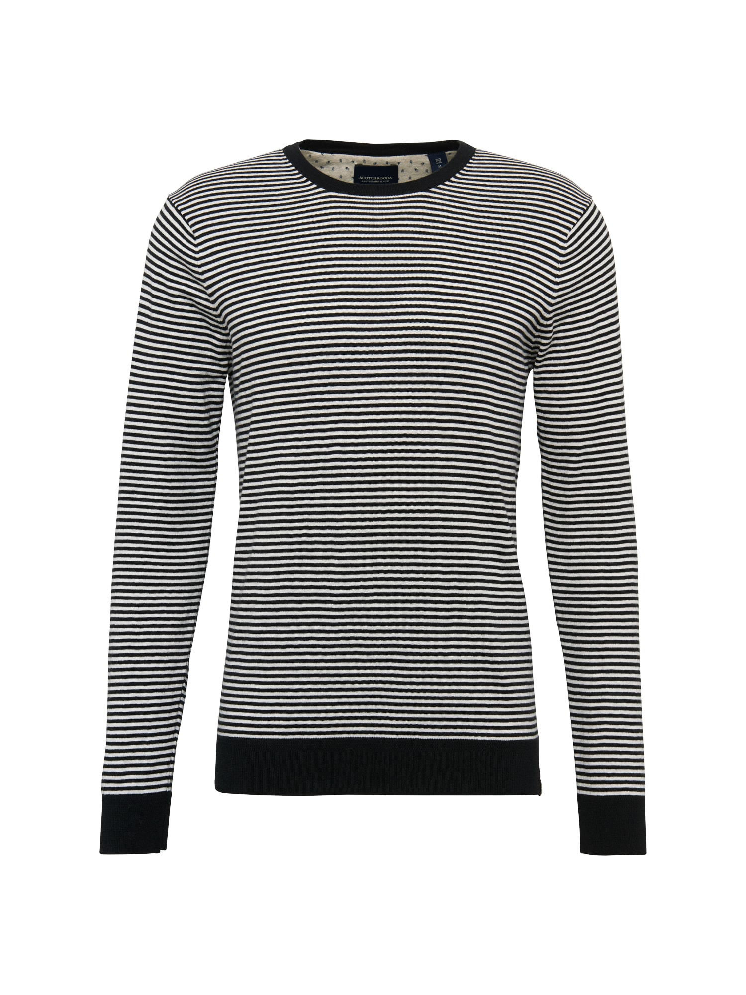 SCOTCH  and  SODA Heren Trui Ams Blauw crew neck knit in cotton cashmere quality'
