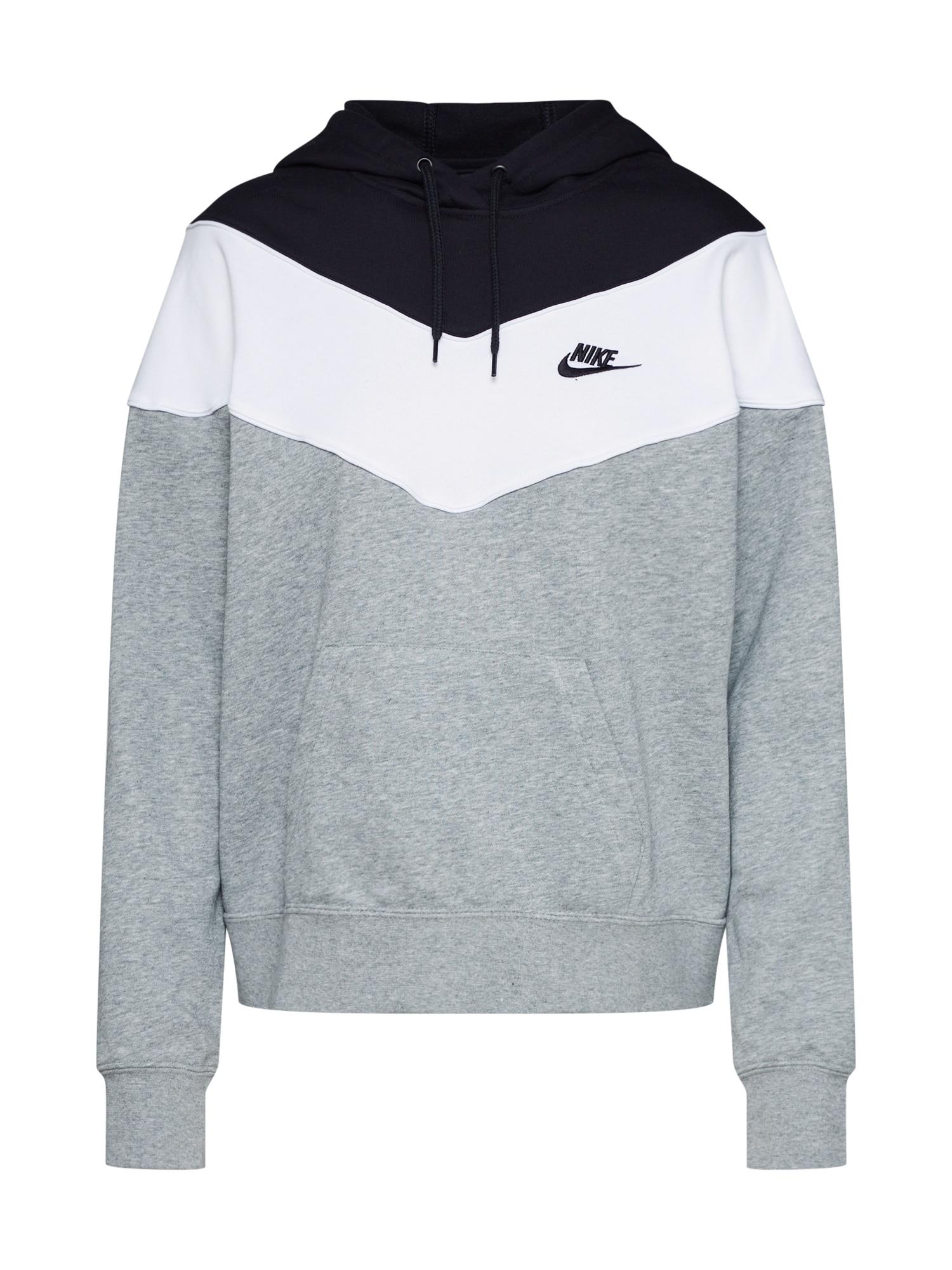 Kapuzenpullover 'Hrtg' | Bekleidung > Pullover > Kapuzenpullover | Schwarz - Weiß | Nike Sportswear