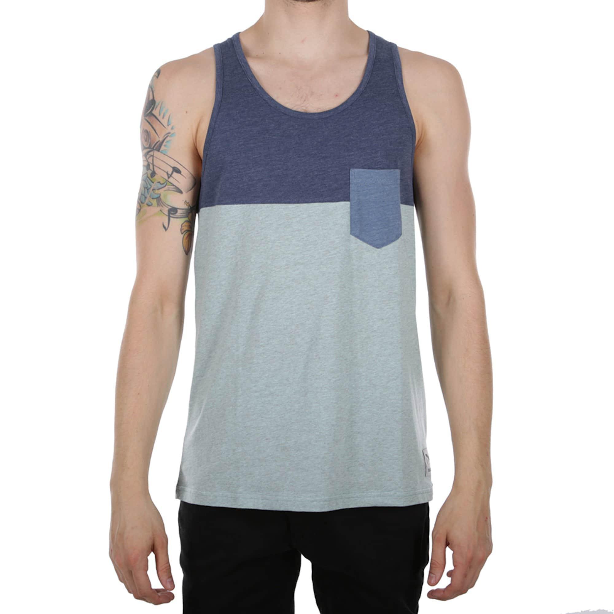 Iriedaily, Heren Shirt, blauw - kobaltblauw - mintgroen