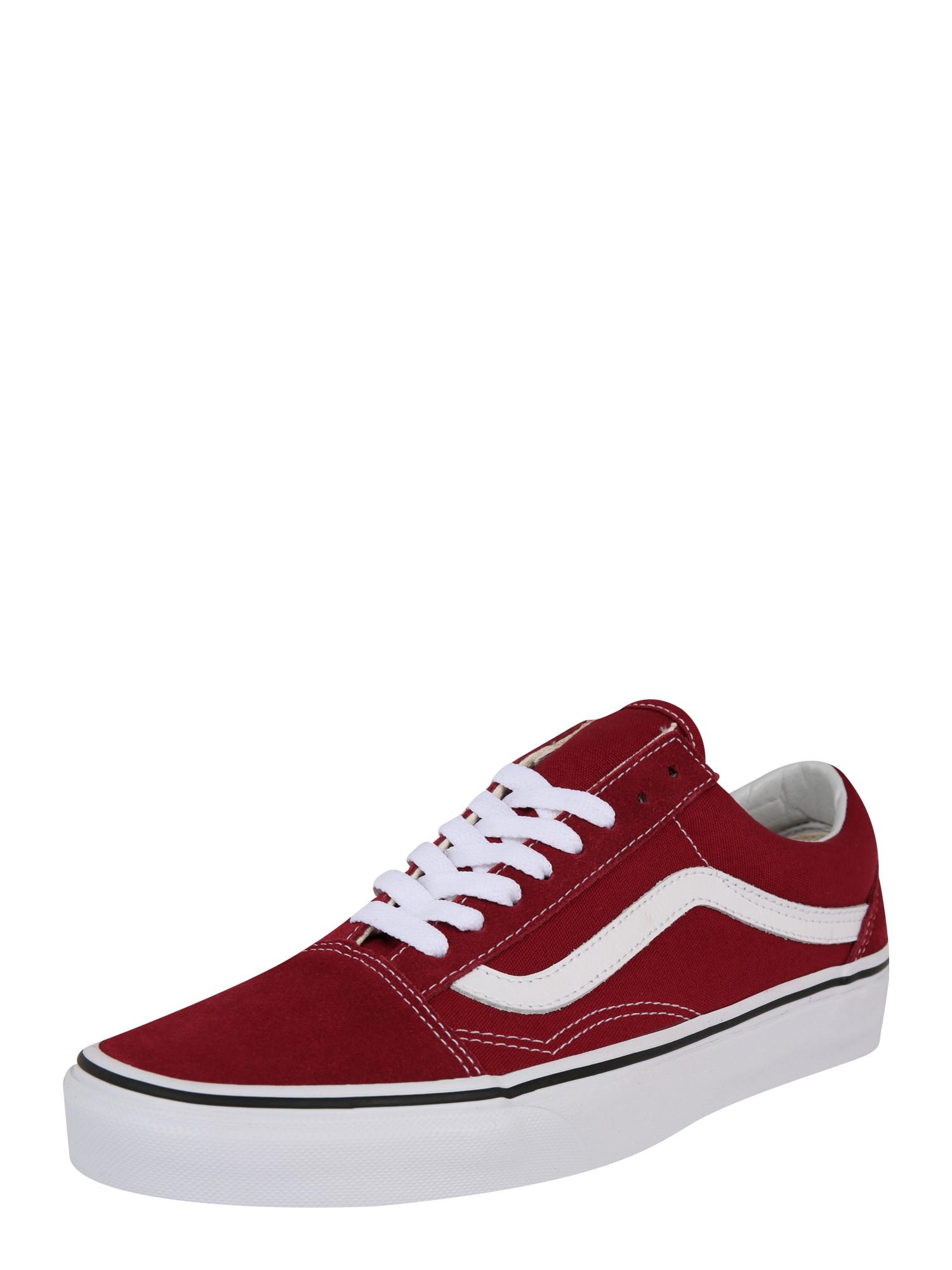 Tenisky ComfyCush Old Skool červená bílá VANS