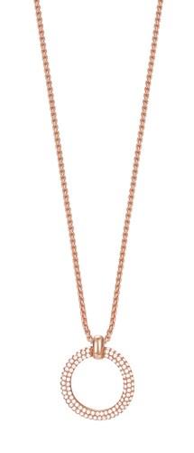Halskette, mit Zirkonia, »ESPRIT-JW50059 rose, ESNL03009C420«