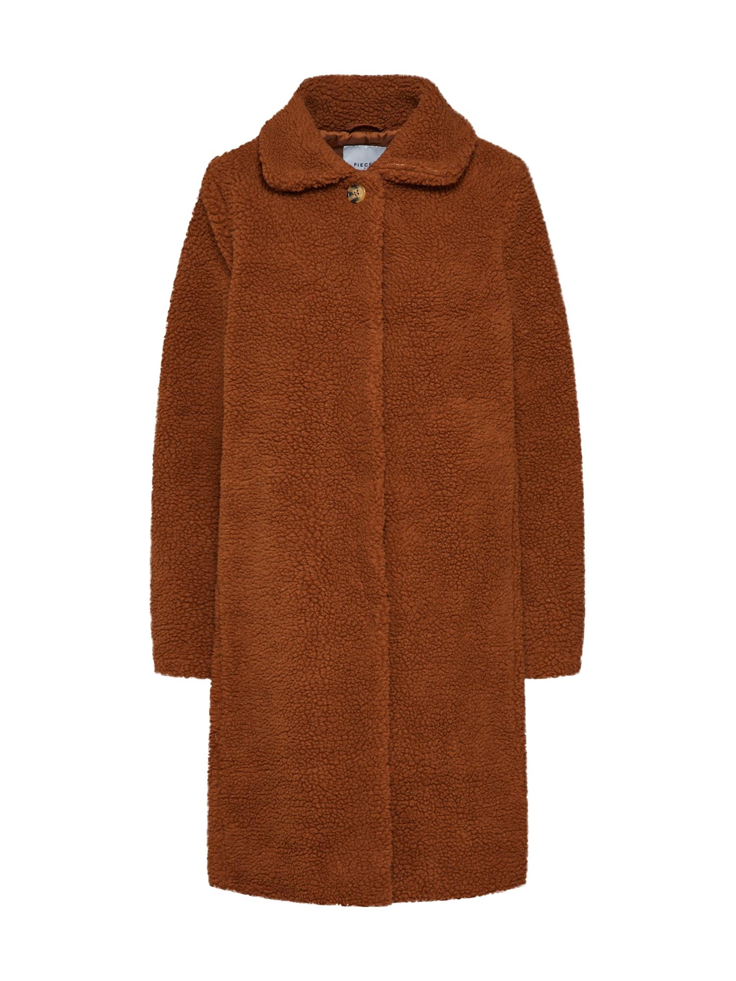 Přechodný kabát CHENNY rezavě hnědá PIECES