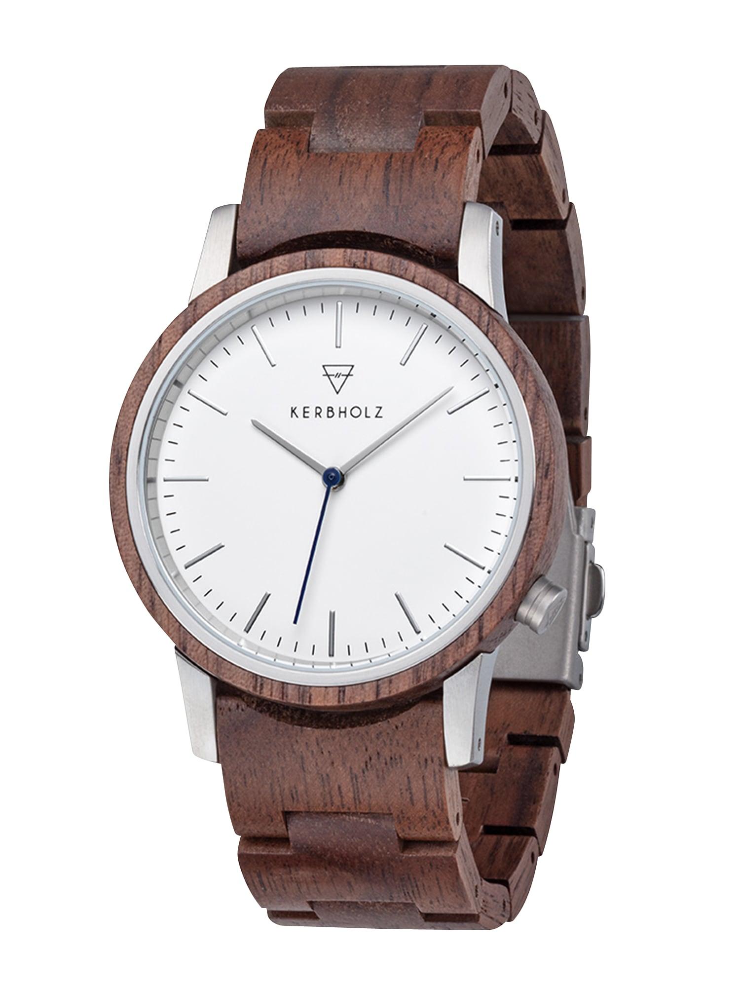 Analogové hodinky Walter hnědá stříbrná bílá Kerbholz
