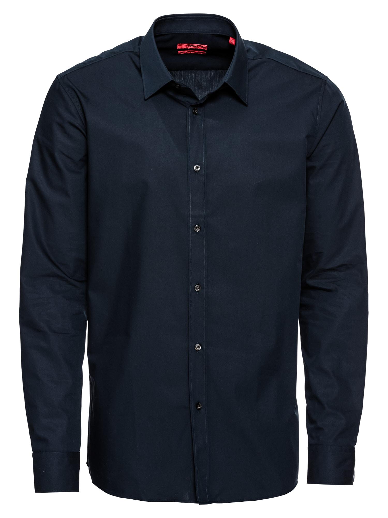 Společenská košile Elisha01 10181991 04 námořnická modř HUGO