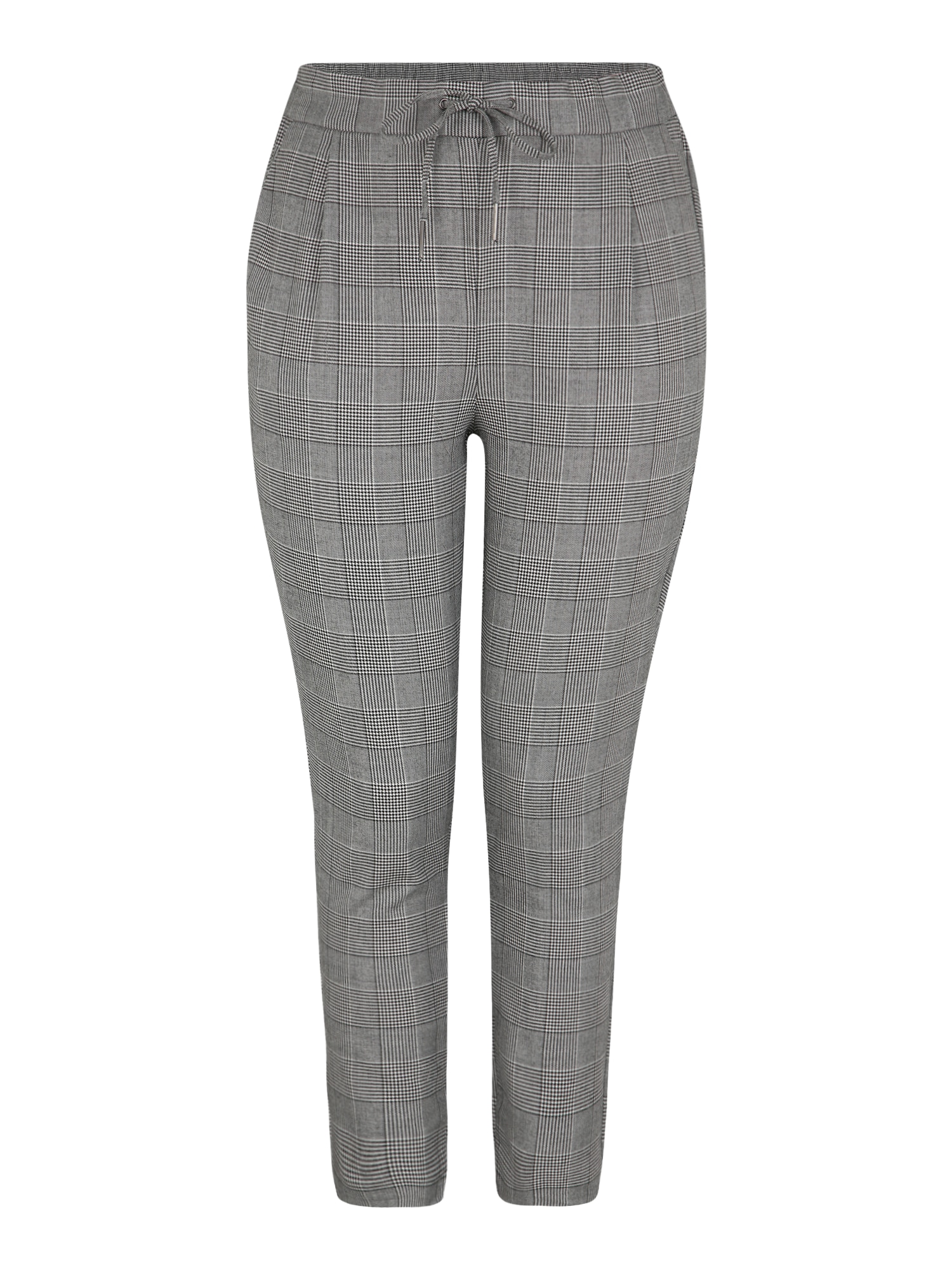 Hose 'EVA MR LOOSE STRING CHECKED PANT CURVE' | Unterwäsche & Reizwäsche > Strings | Grau - Weiß | Vero Moda Curve