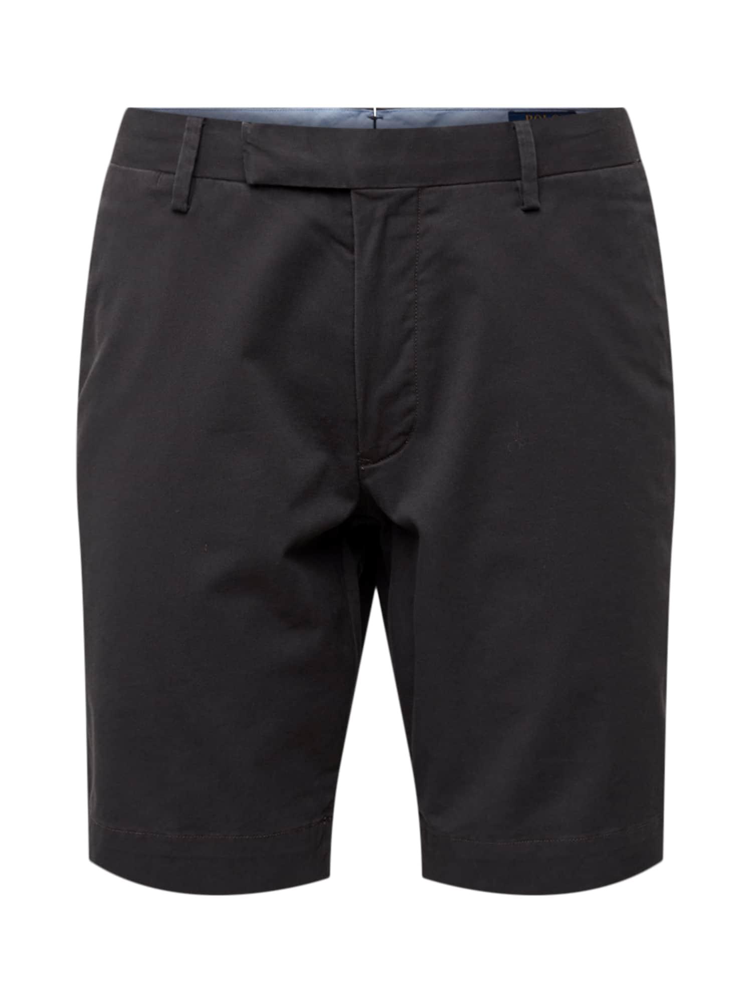 Chino kalhoty SLFHDNS-FLAT-SHORT černá POLO RALPH LAUREN