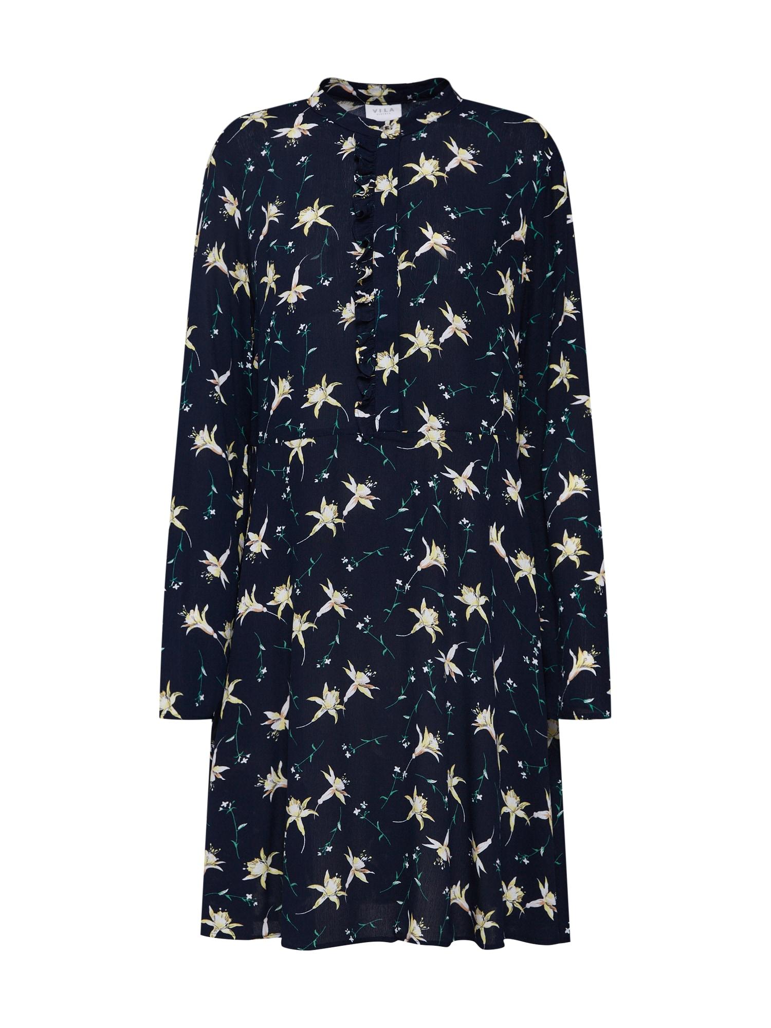 Košilové šaty ALITTA námořnická modř VILA