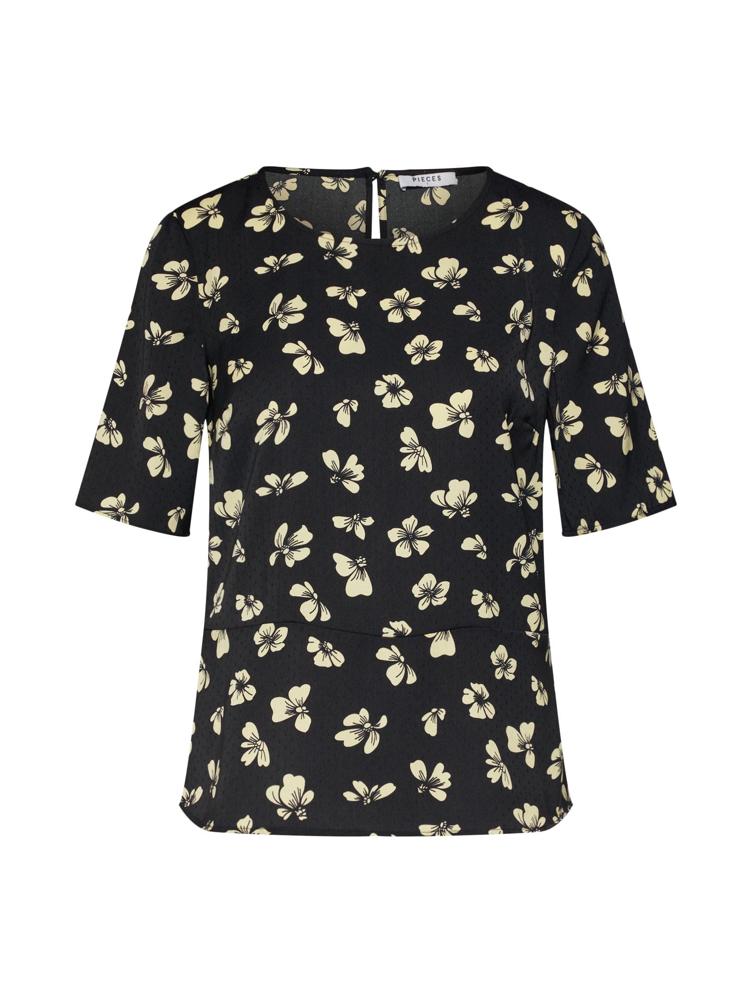 Tričko Stine žlutá černá PIECES