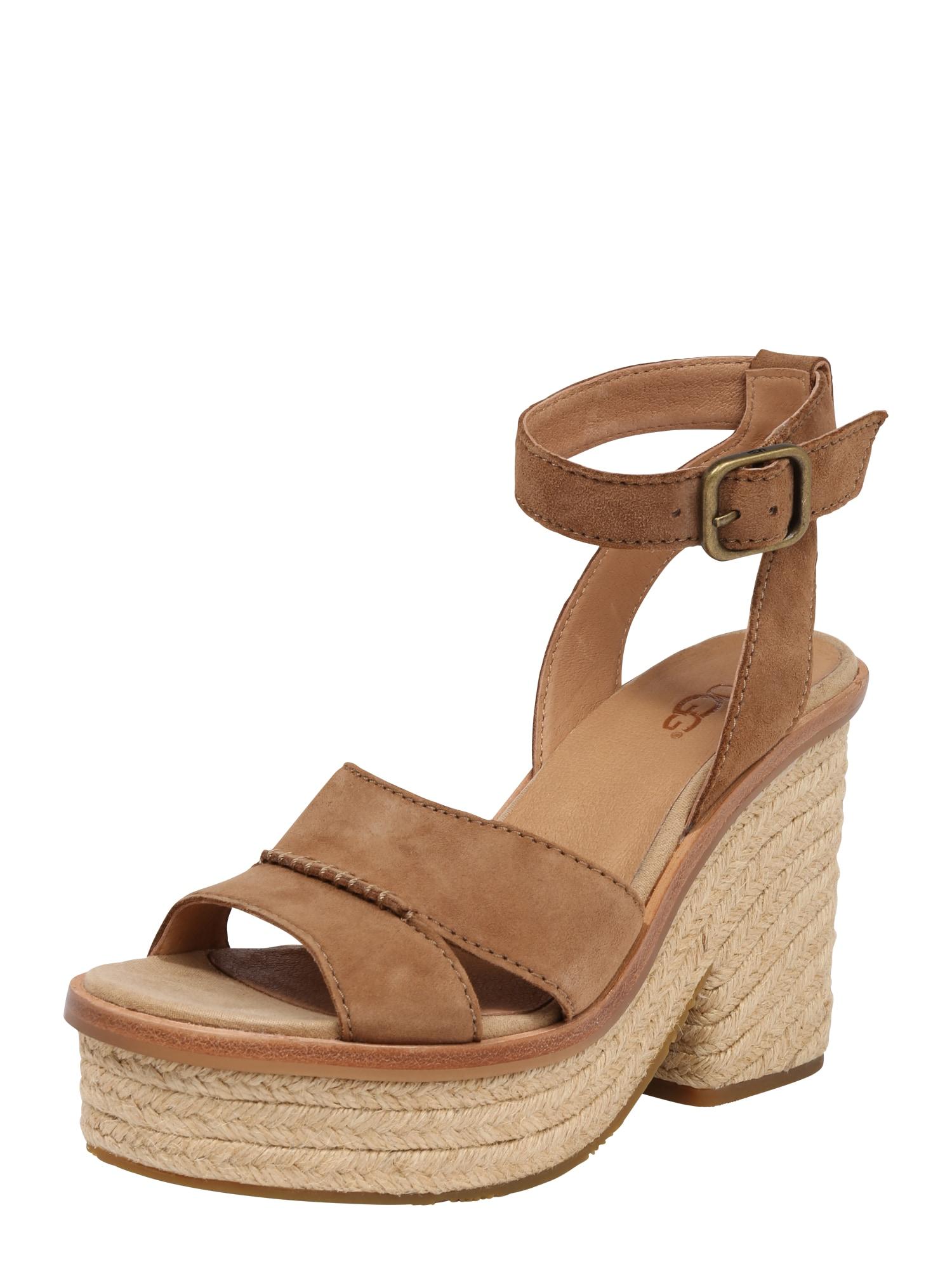 Páskové sandály Carine hnědá UGG