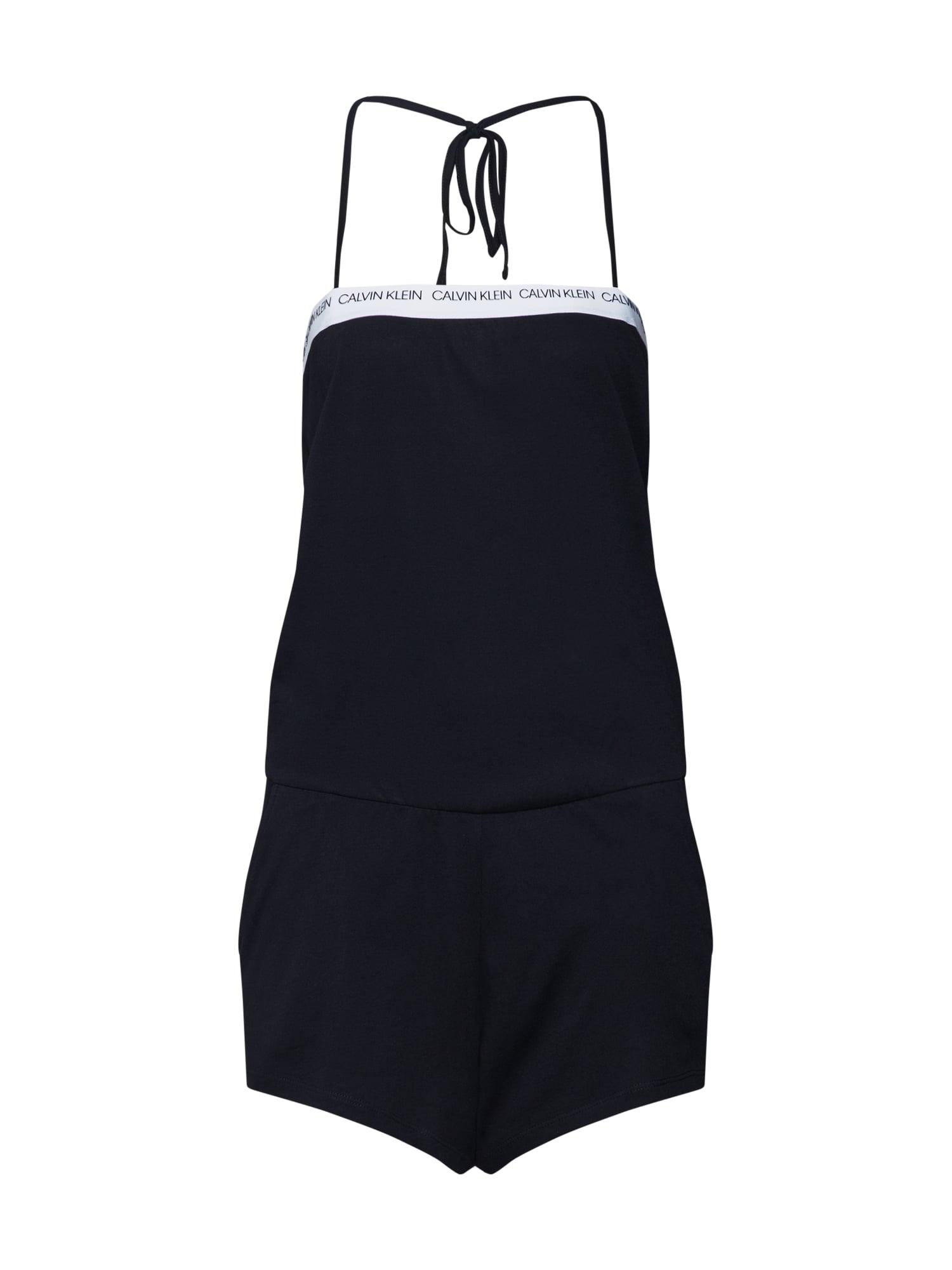 Pyžamo BANDEAU ROMPER černá Calvin Klein Swimwear