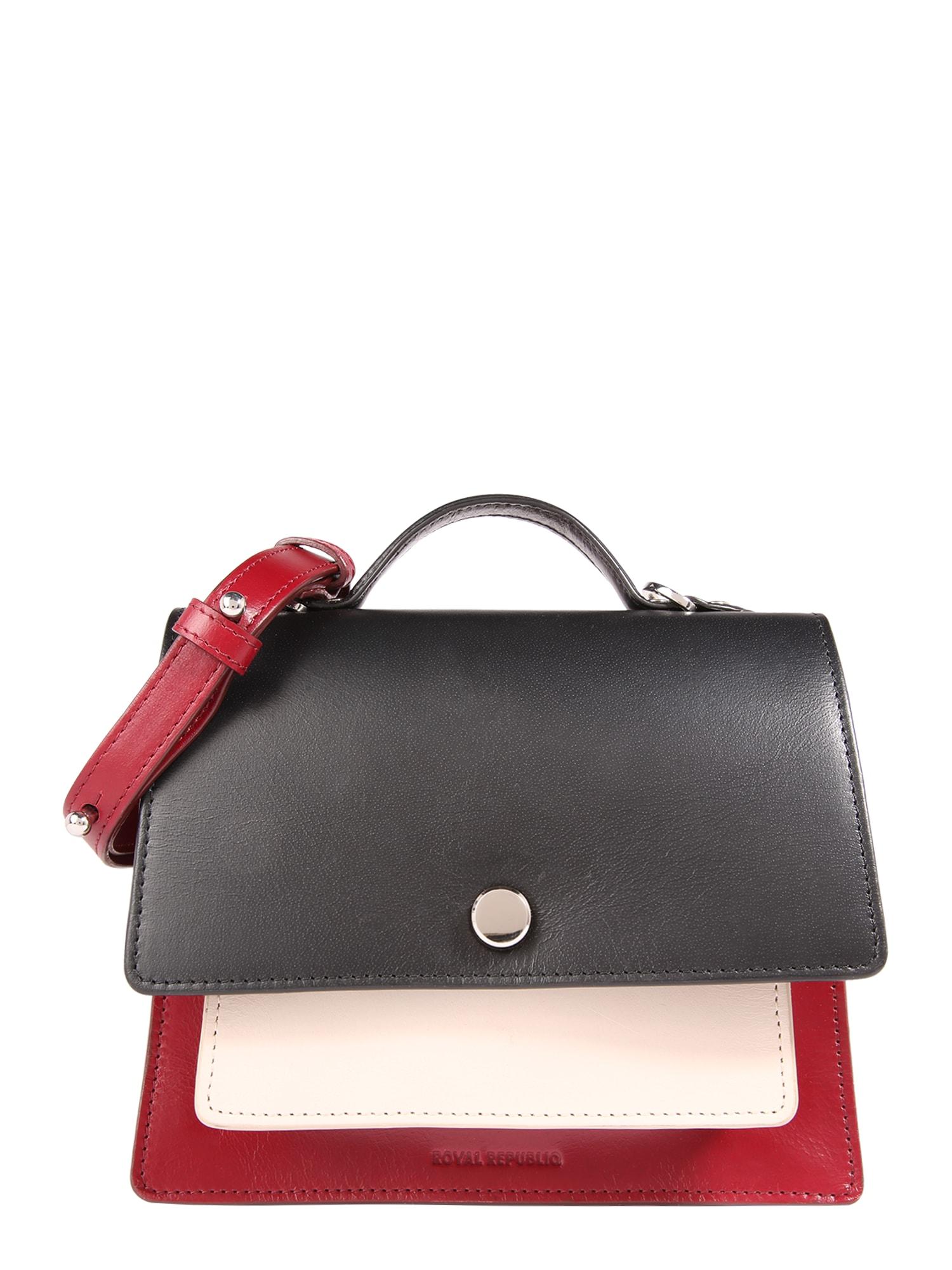 Taška přes rameno New Conductor Colourblock Evening Bag  krémová vínově červená ROYAL REPUBLIQ