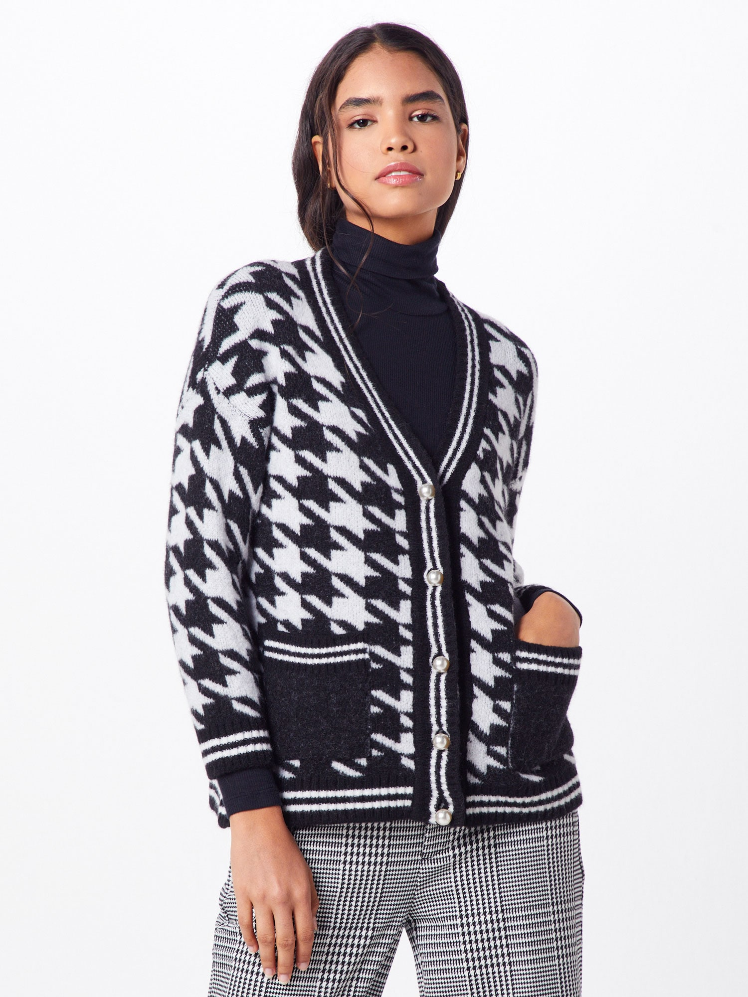 rich & royal - Cardigan 'Houndstooth Jacquard'