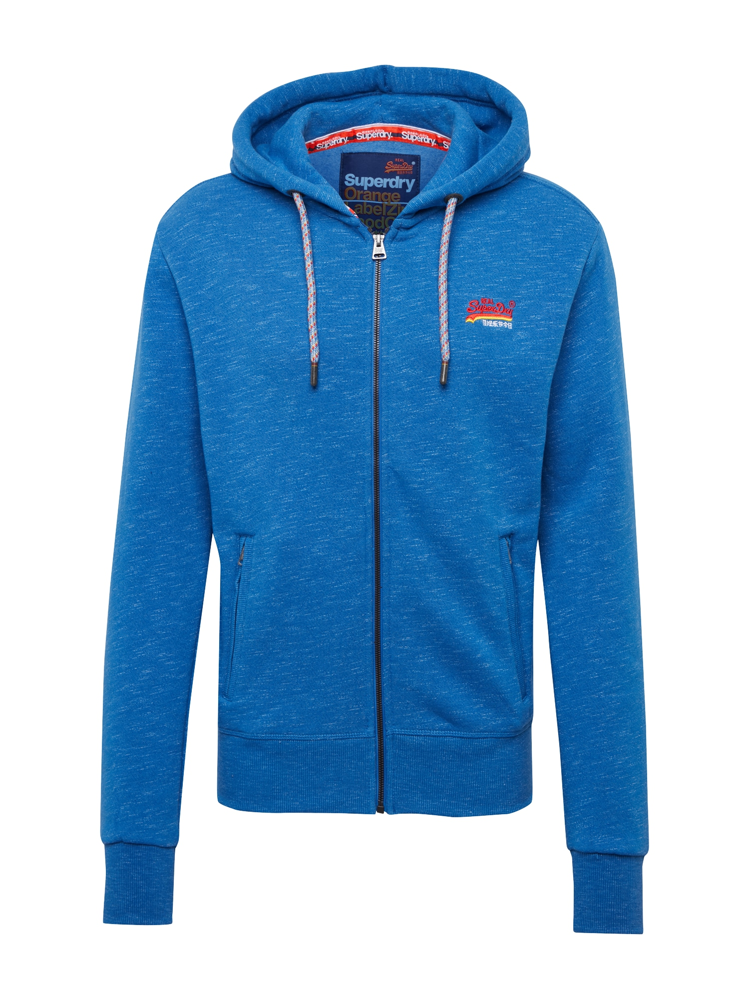 Mikina s kapucí Cali modrá Superdry