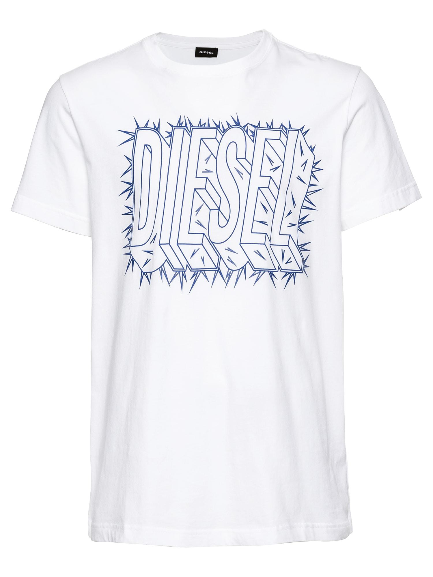 DIESEL Heren Shirt T-DIEGO-SL HEMD blauw wit