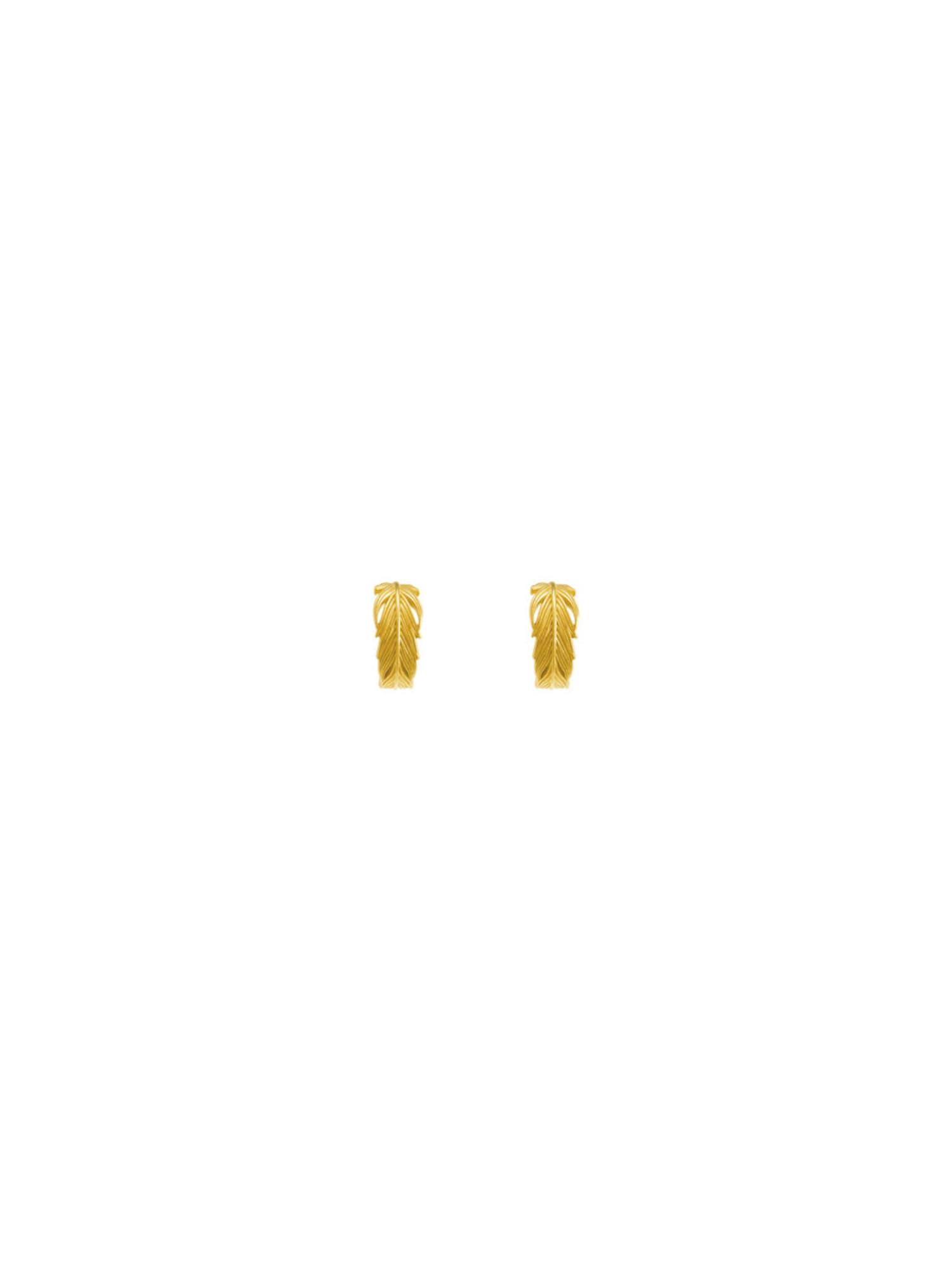 Ohrring 'Feder' | Schmuck > Ohrschmuck & Ohrringe > Ohrstecker | Gold | ID Fine