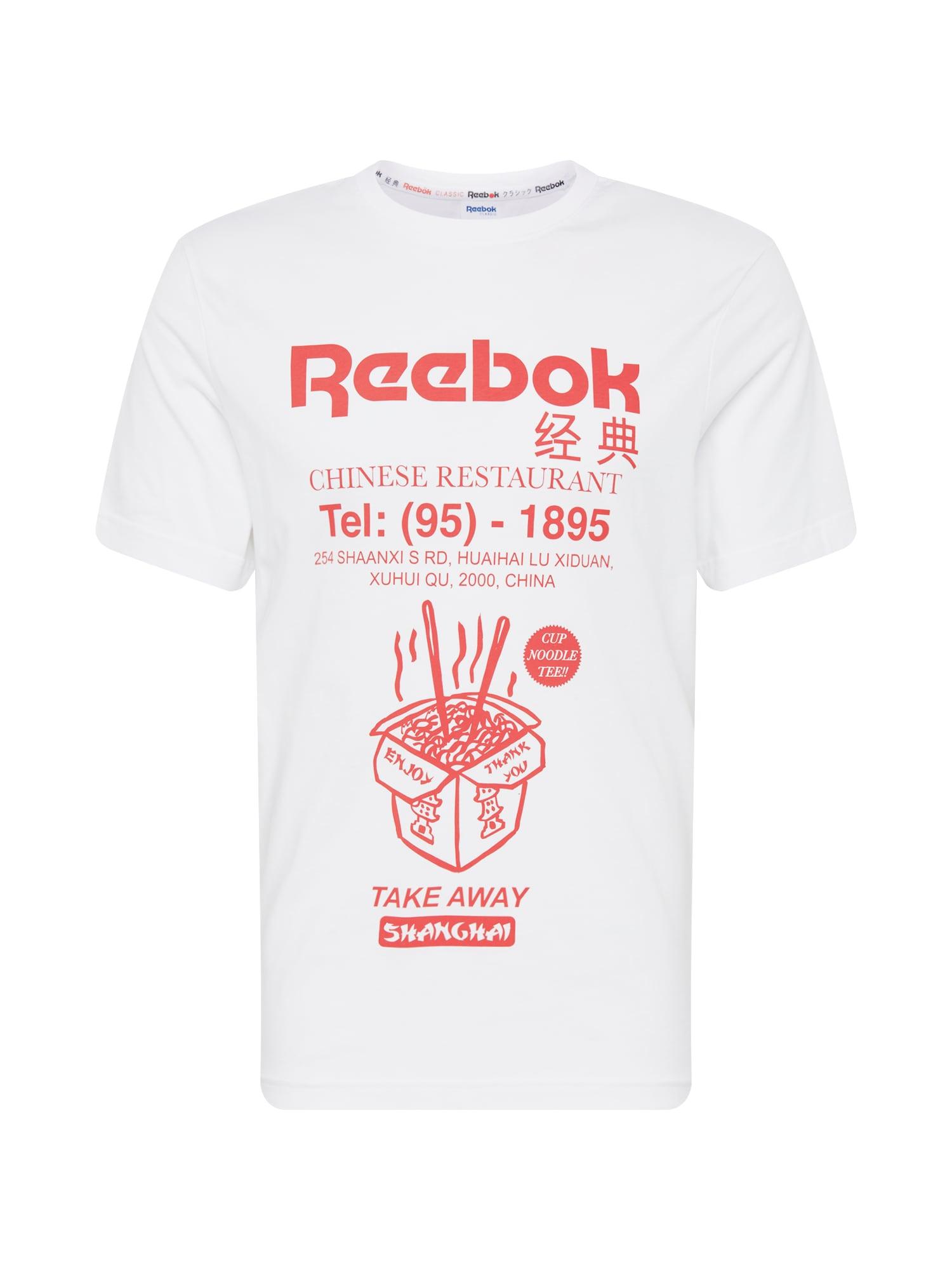 Tričko červená bílá Reebok Classic