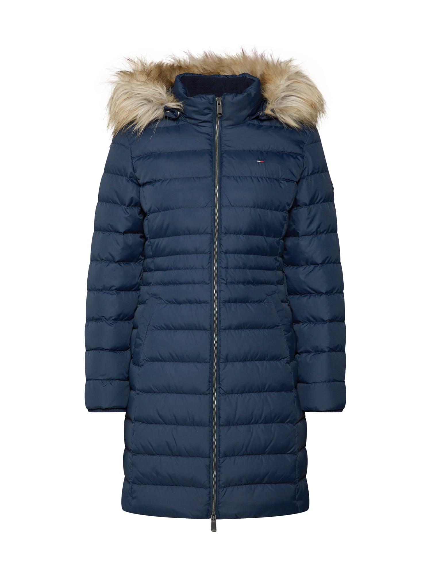 Zimní kabát noční modrá Tommy Jeans