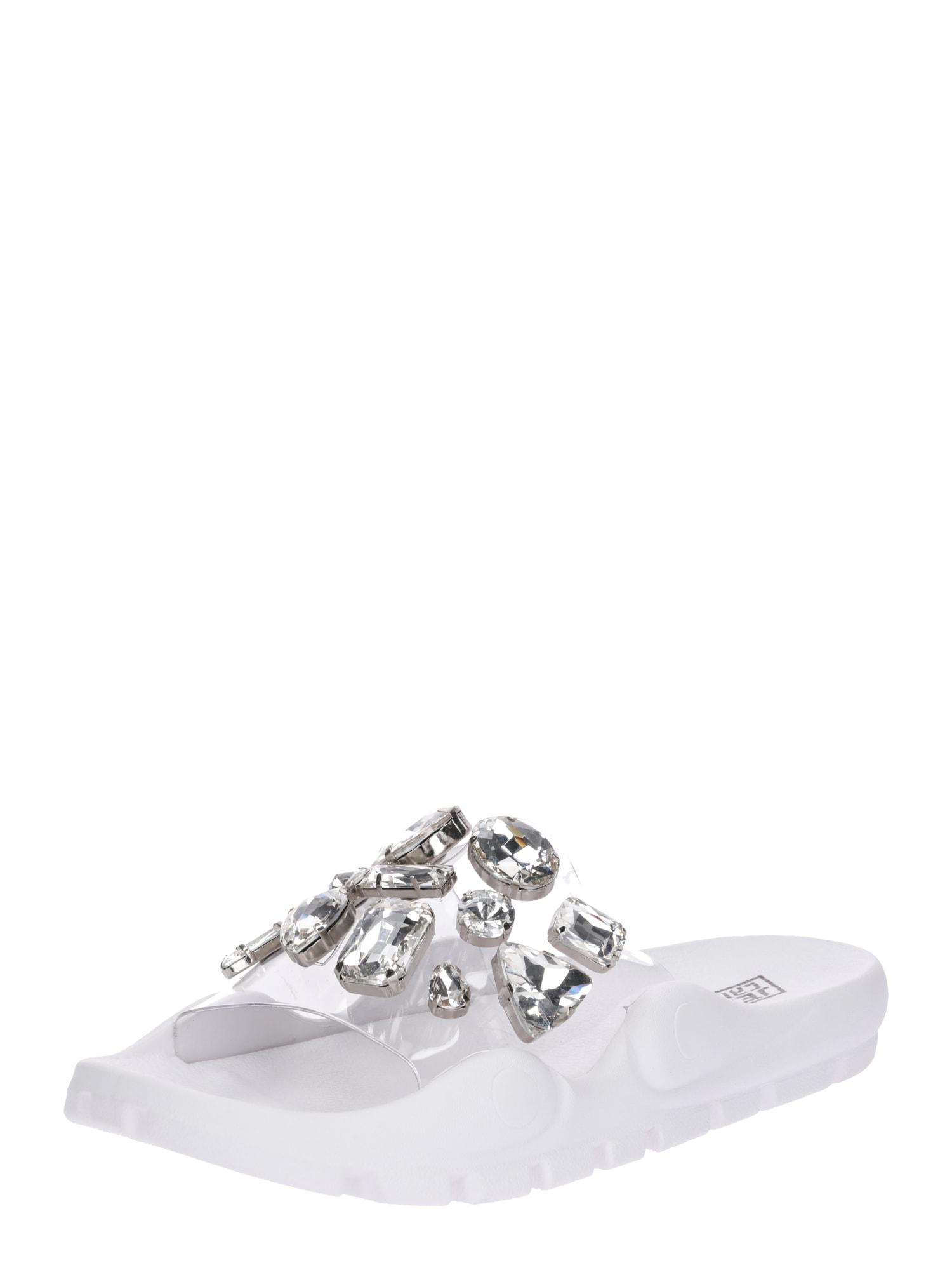 Pantofle průhledná bílá Jeffrey Campbell