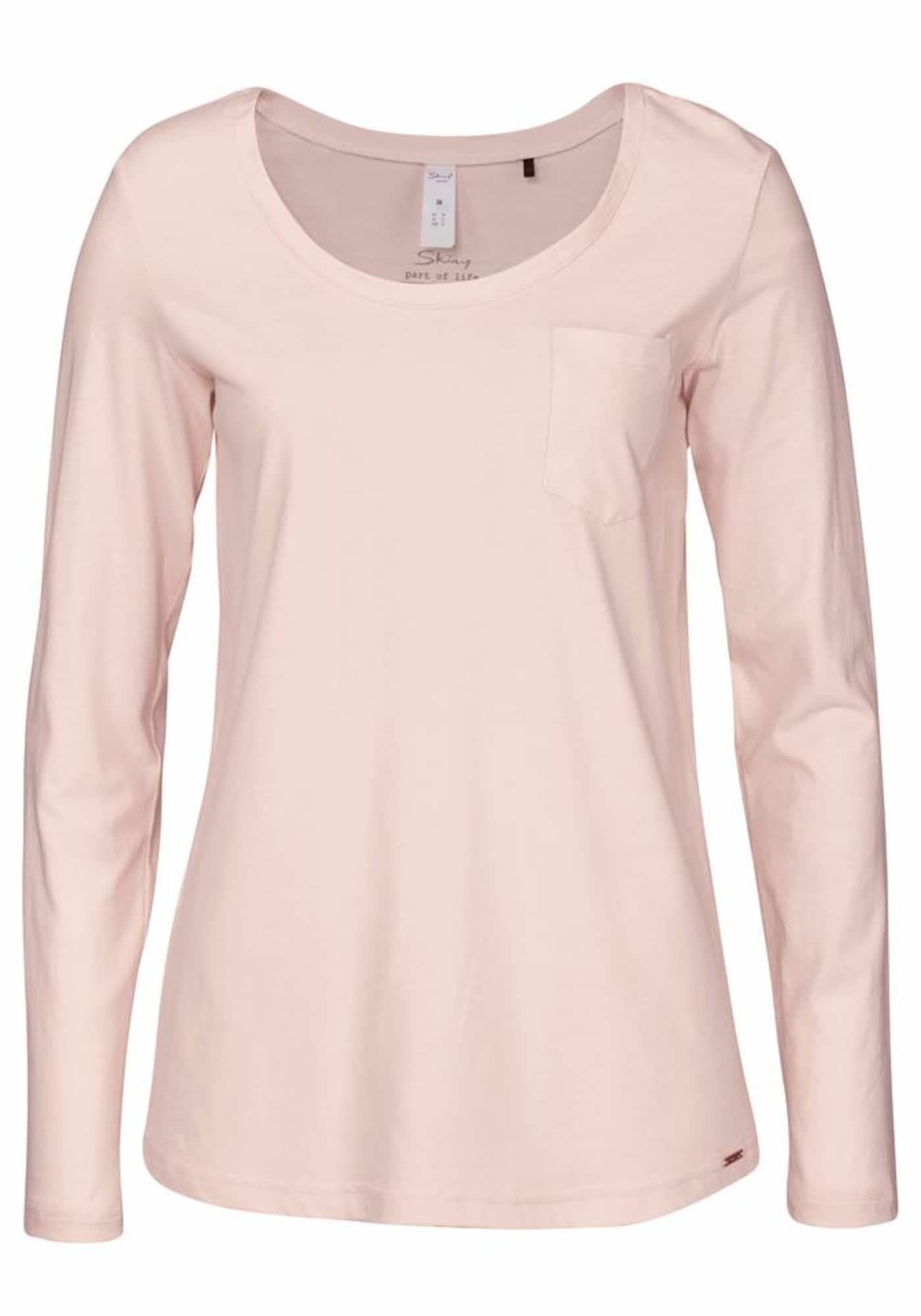 Tričko na spaní růžová Skiny