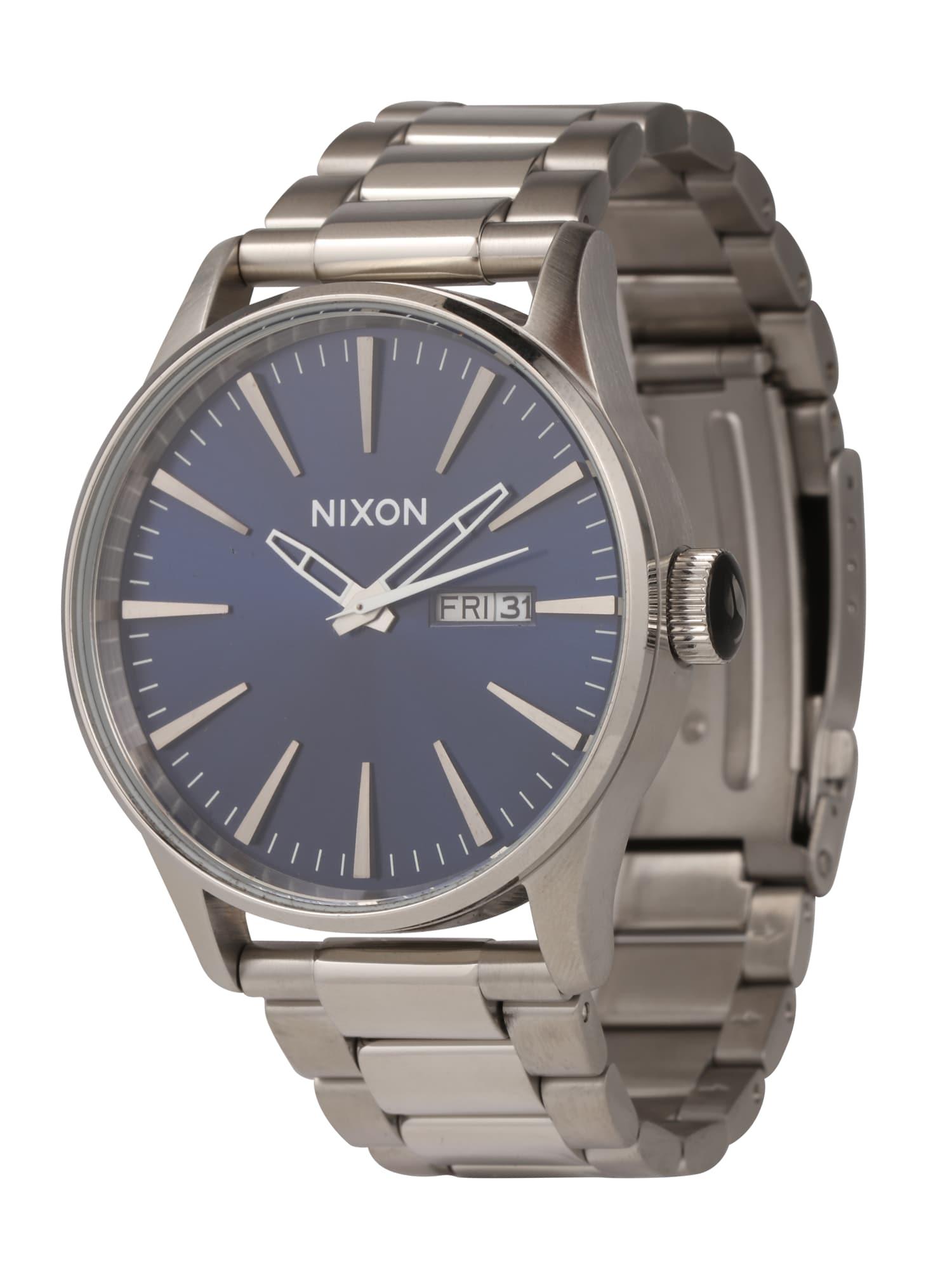 Analogové hodinky Sentry SS modrá stříbrná Nixon