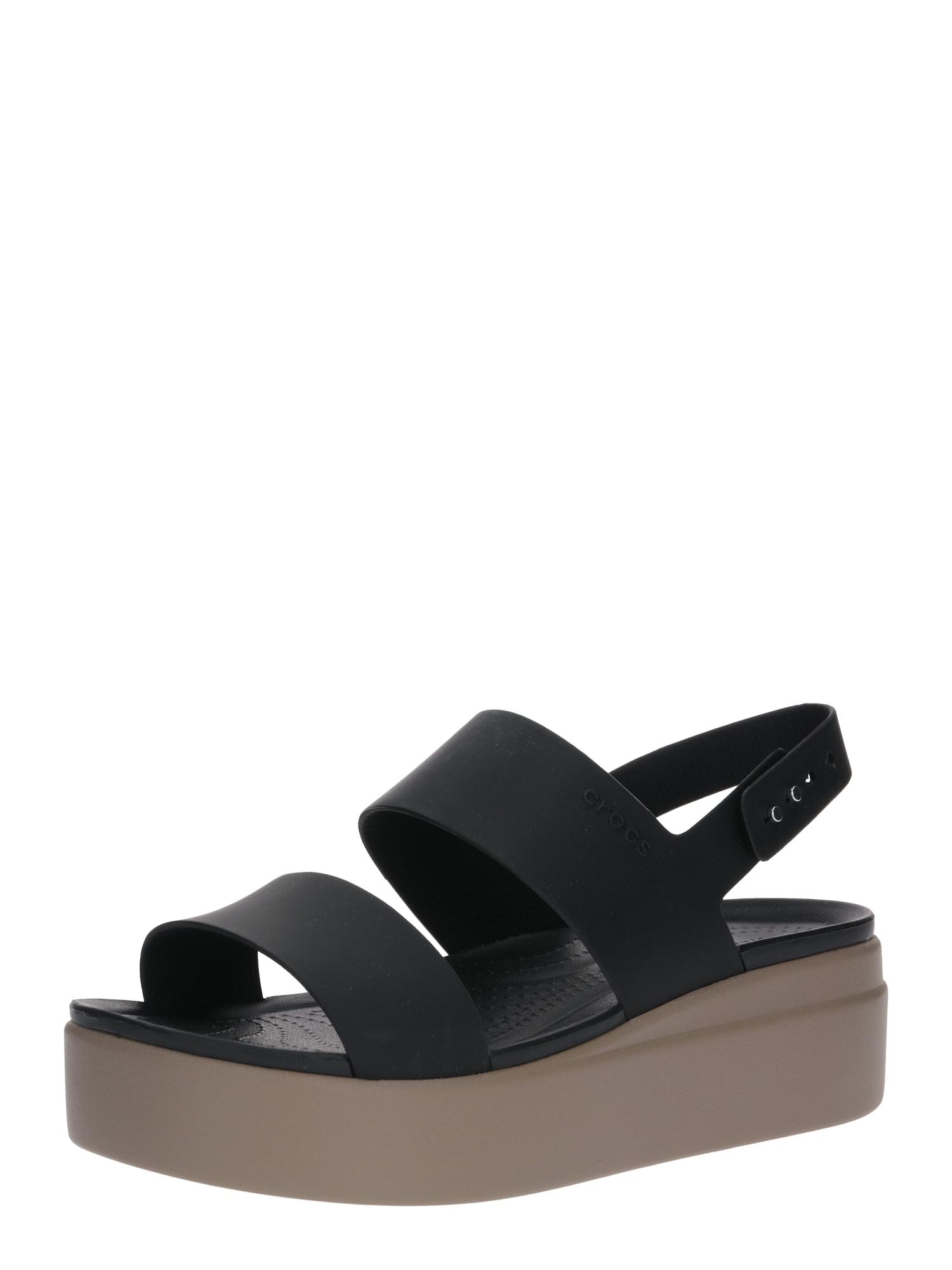 Crocs Remienkové sandále 'Brooklyn Low Wedge W'  čierna