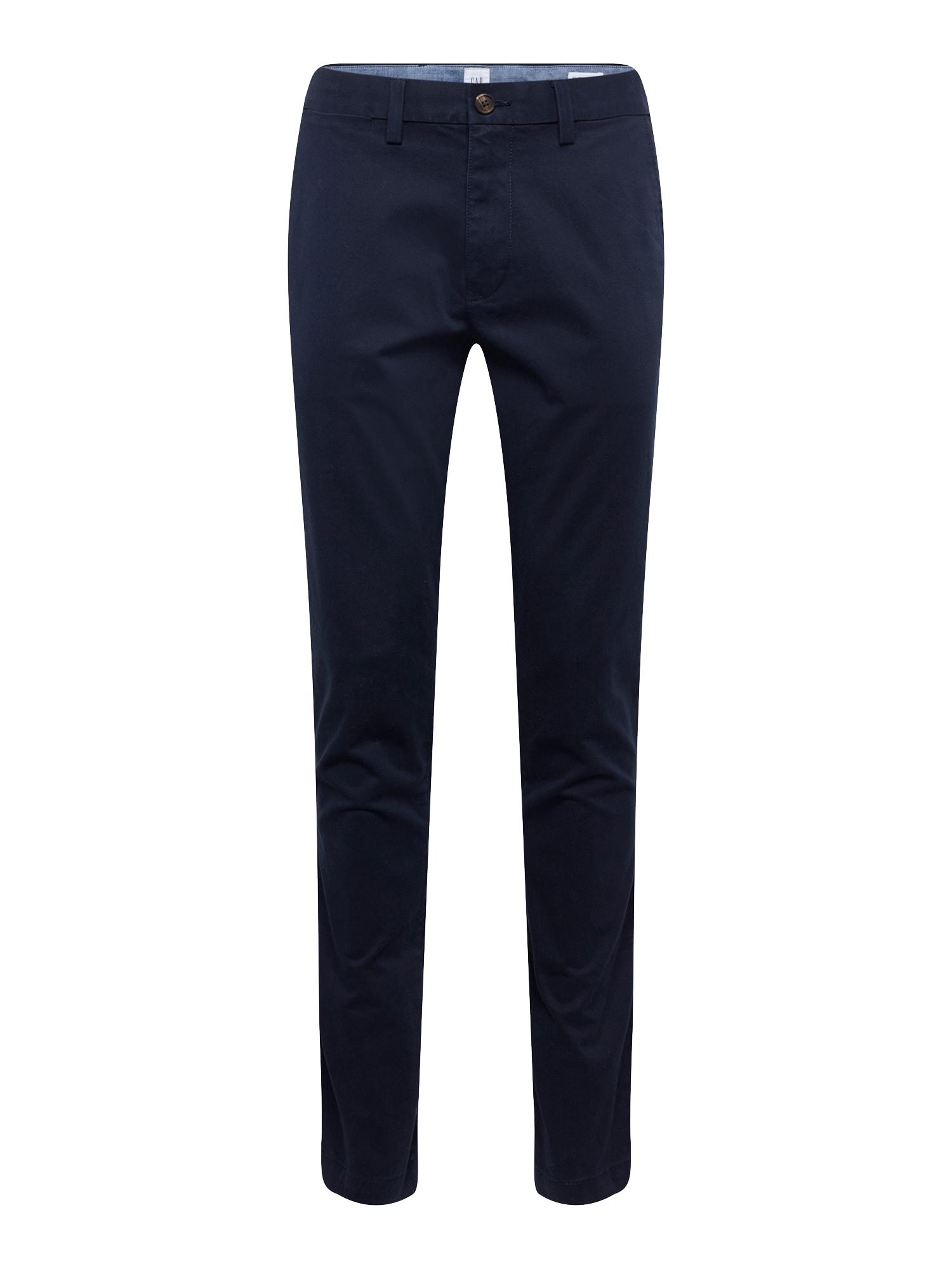 Chino kalhoty V-SKINNY STRETCH KHAKI tmavě modrá GAP