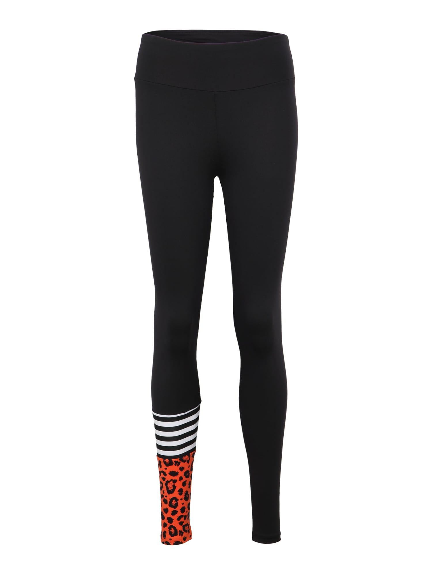 Sportovní kalhoty oranžová černá bílá Hey Honey