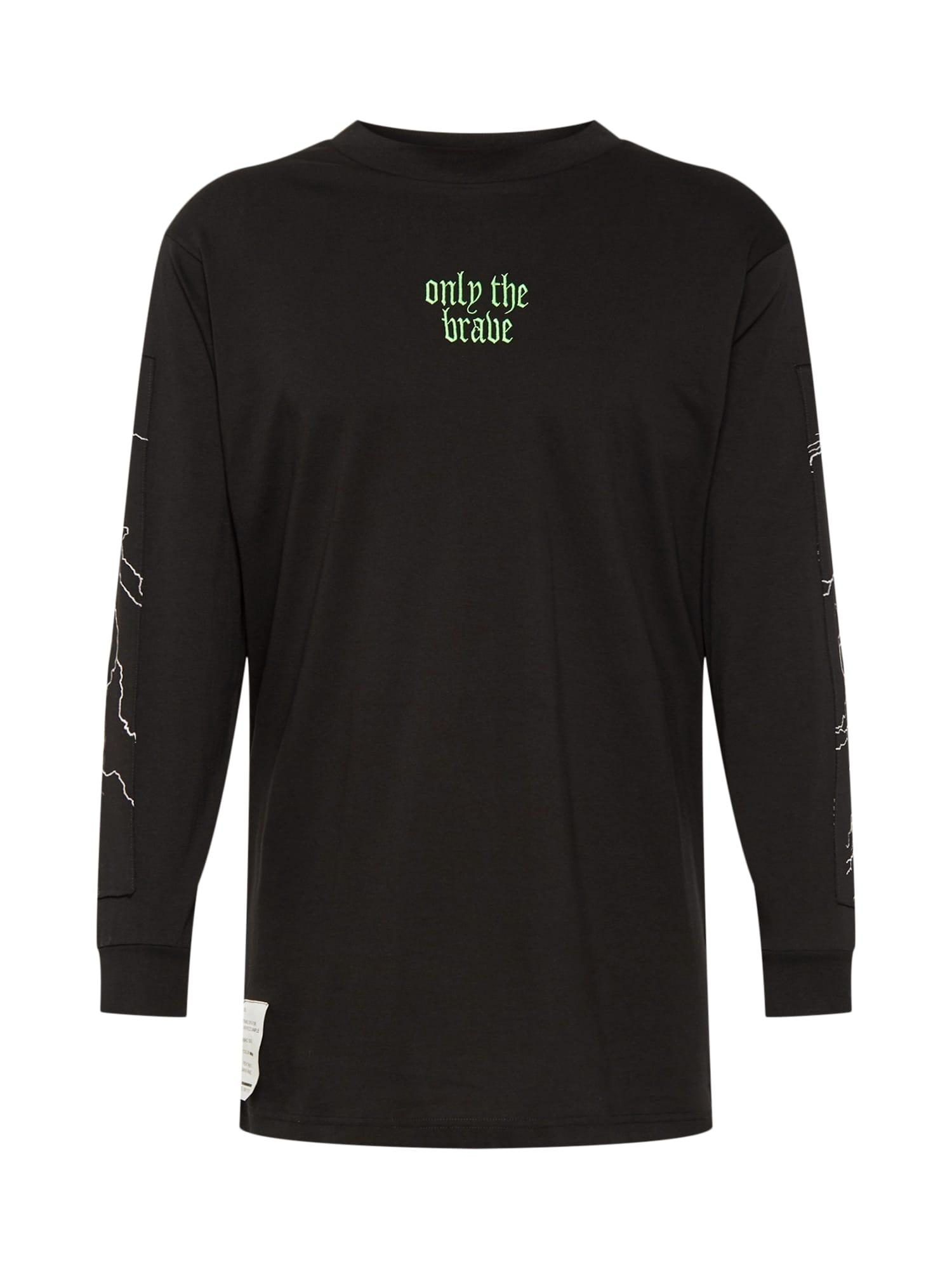 Tričko T-LUCAS-LS-Y2 HEMD světlemodrá černá bílá DIESEL