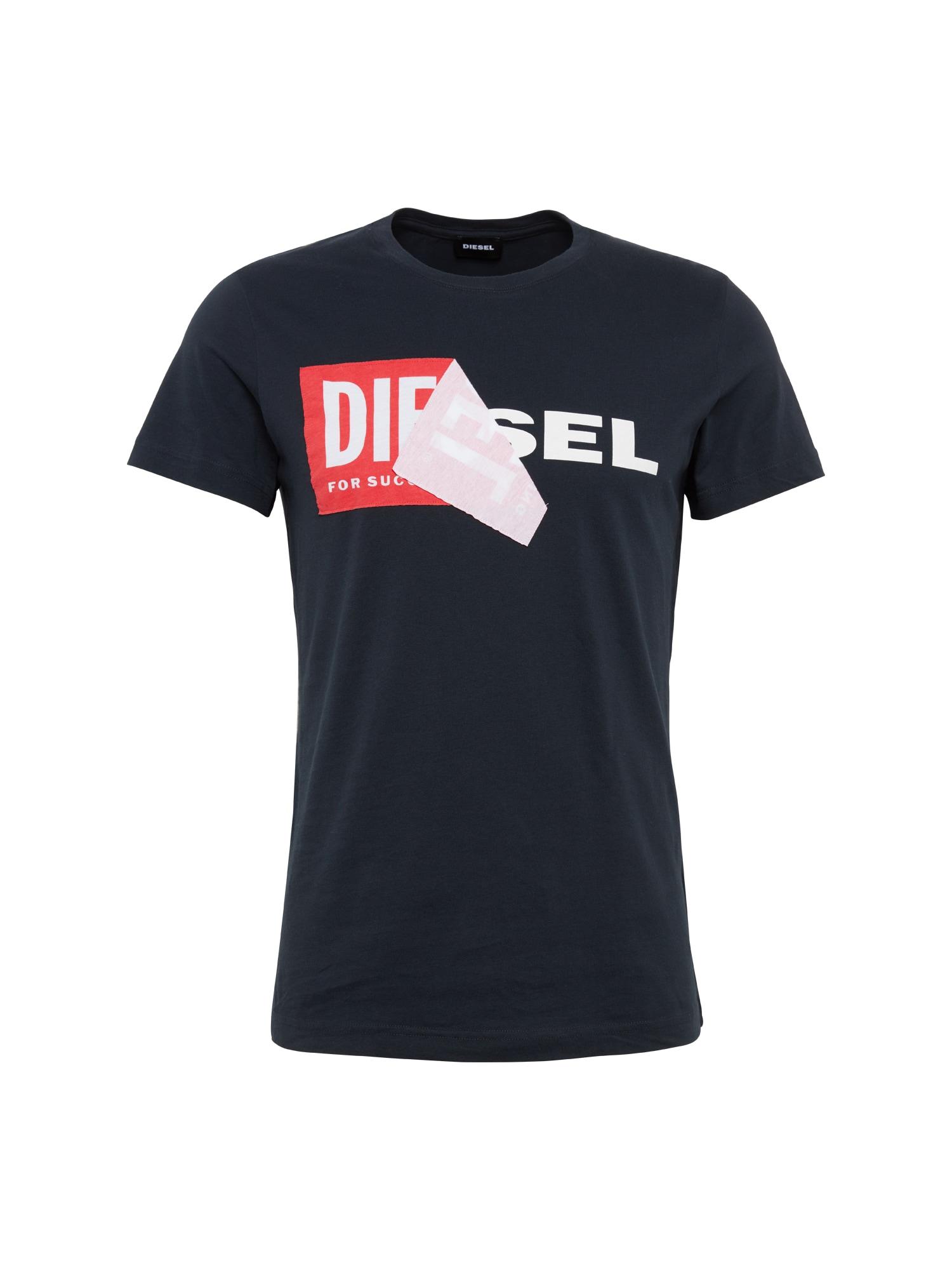 DIESEL Heren Shirt T-DIEGO-QA zwart
