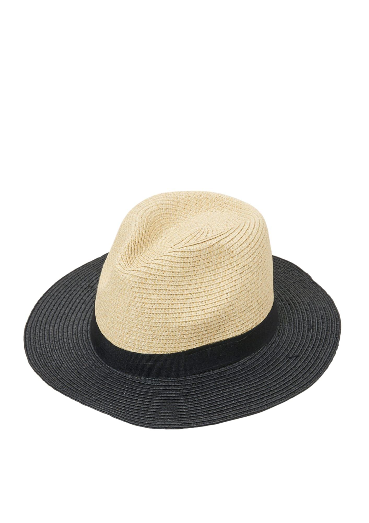 Trilby-Hut mit Kontrastkrempe   Accessoires > Hüte > Trilbys   Beige - Schwarz   S.Oliver