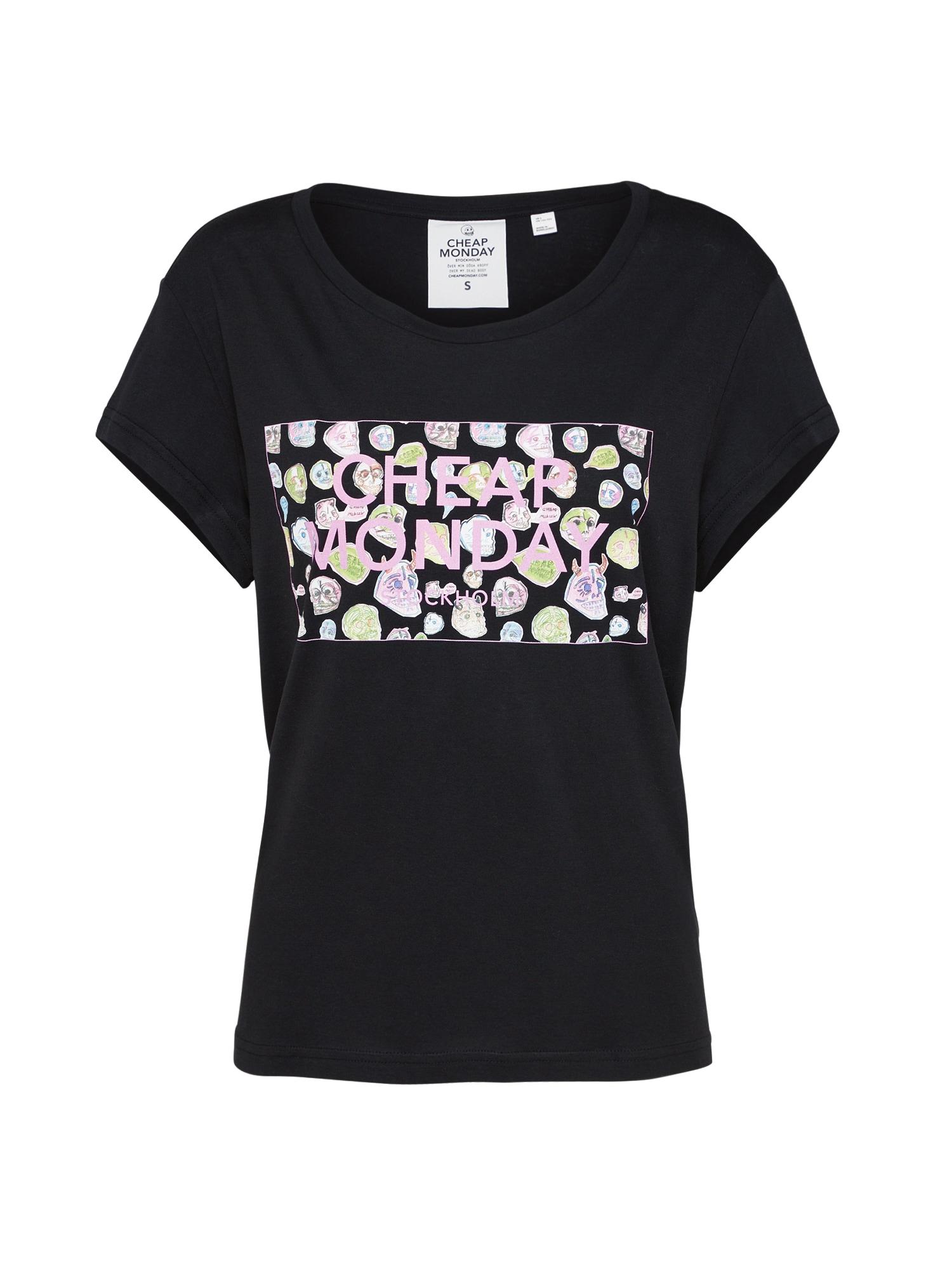 CHEAP MONDAY Dames Shirt Have tee Logo box gemengde kleuren zwart